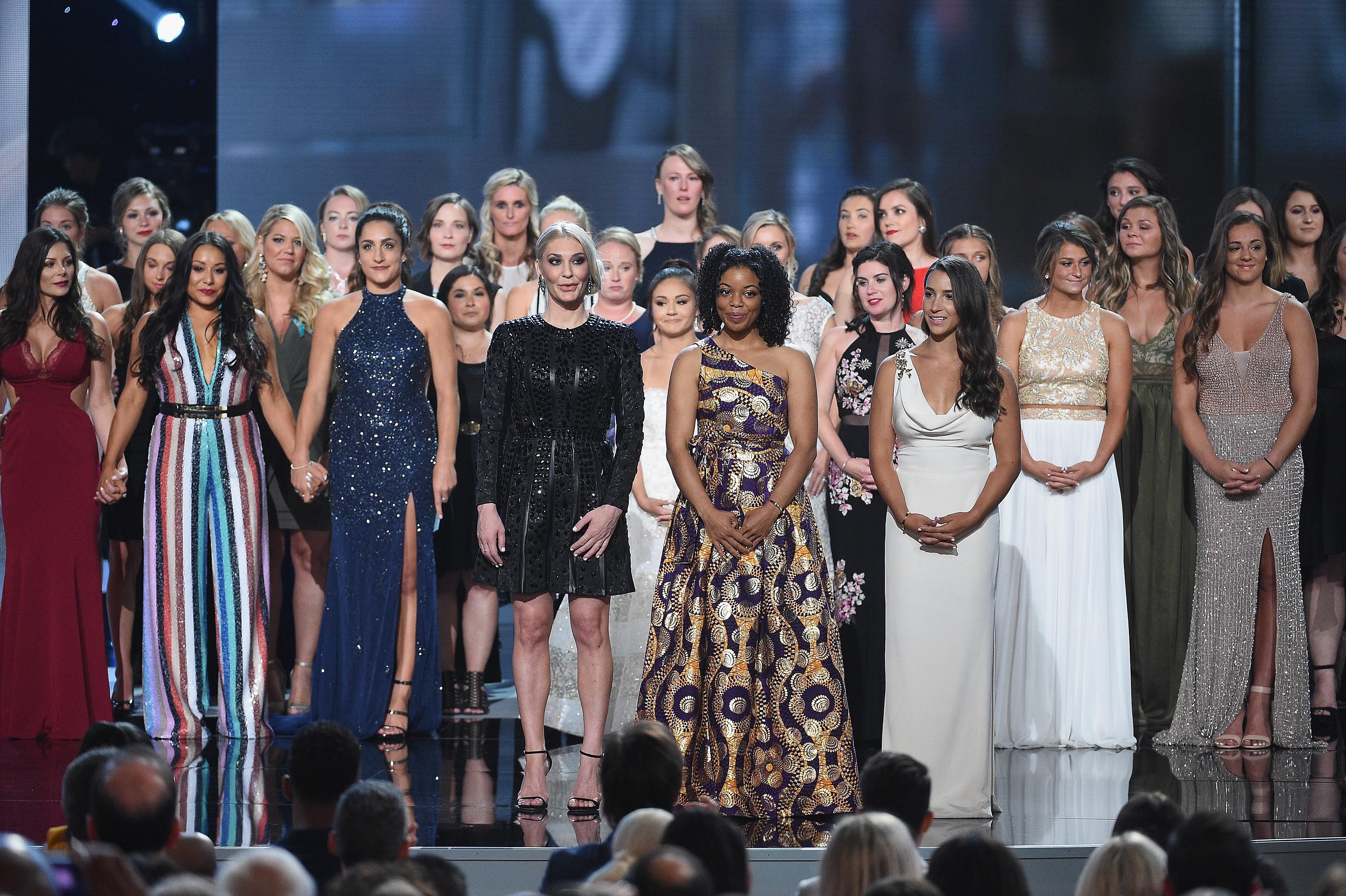 Aly-Raisman-Sarah-Klein-Tiffany-Thomas-Lopez-140-Victims-Of-Larry-Nassar-Bring-ESPY-Awards-To-Their-Feet-We-Survive-Together