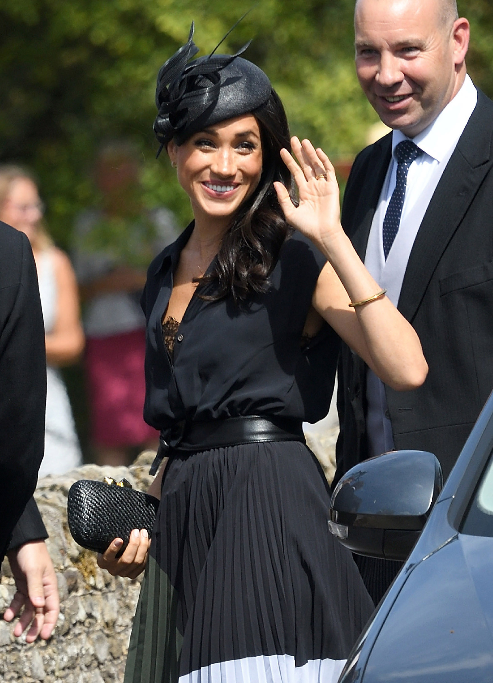 Meghan-Markle-Steps-Out-On-Her-Birthday-To-Attend-Charlie-Van-Straubenzees-Wedding