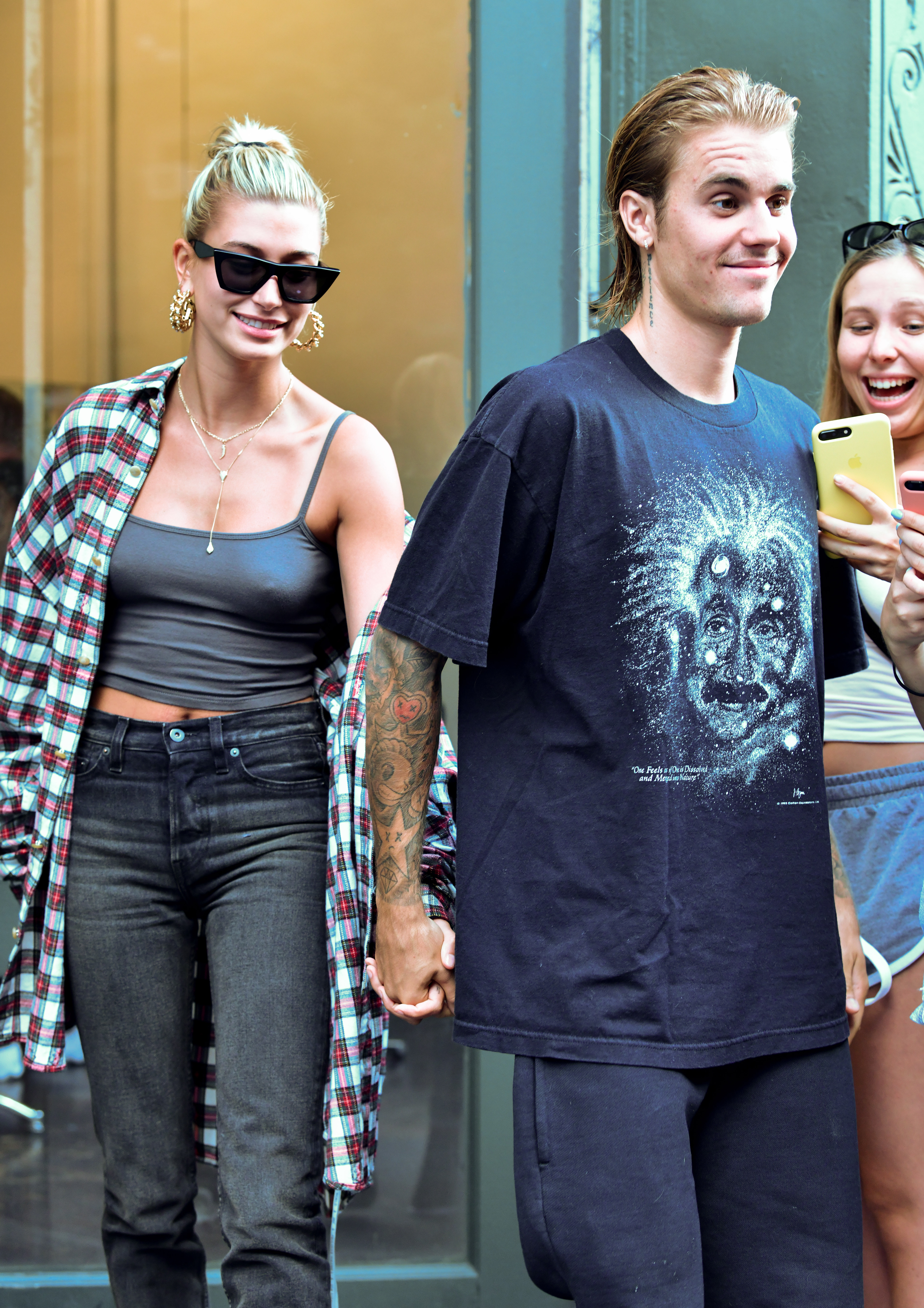 Justin Bieber and Hailey Baldwin are seen on August 8, 2018 in New York City