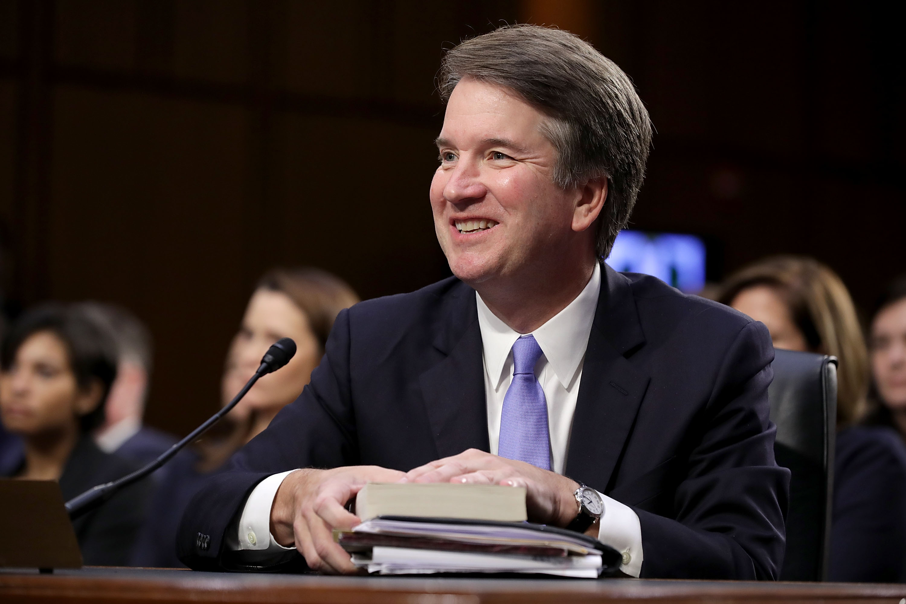 Supreme Court nominee Judge Brett Kavanaugh testifies before the Senate Judiciary Committee on the third day of his Supreme Court confirmation hearing on Capitol Hill September 6, 2018 in Washington, DC