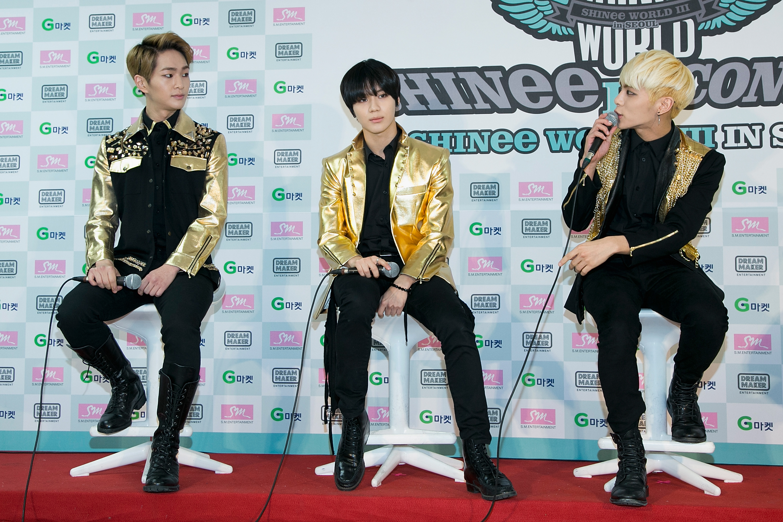 'SHINee World III' Press Conference In Seoul