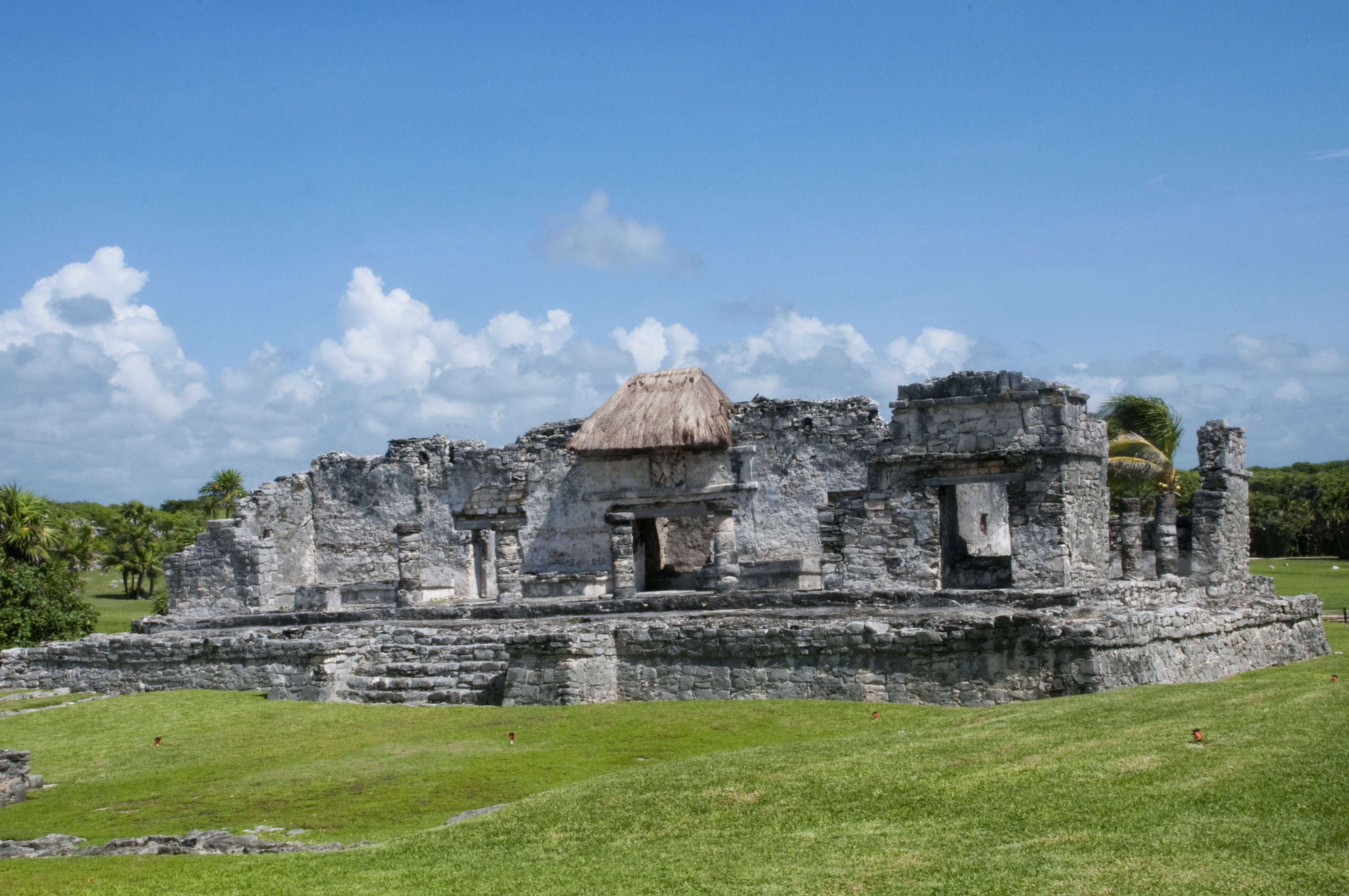 Great Palace of the ancient Mayan city of Tulum, Yucatan, Mexico