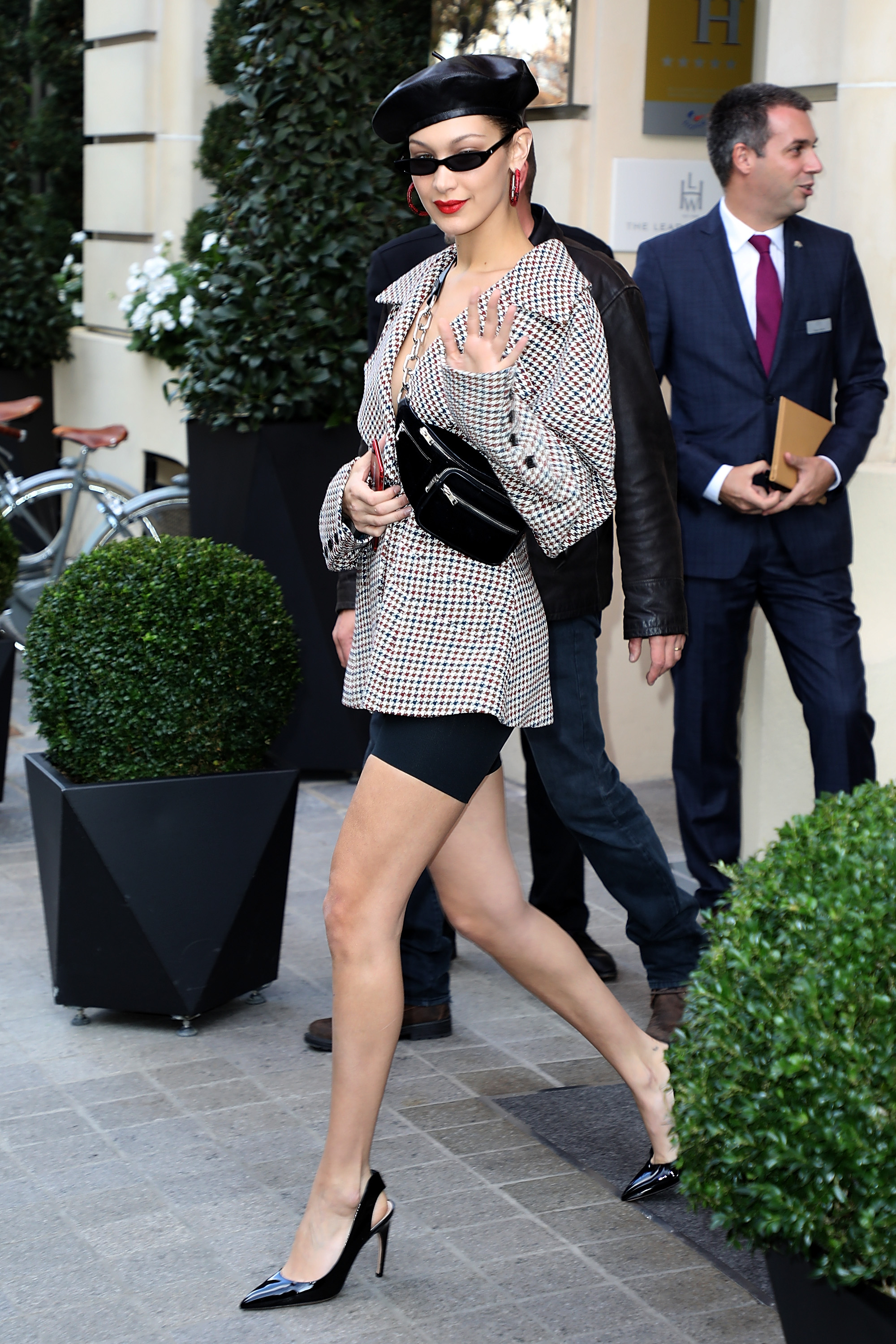 4bb04214cc99 Bella Hadid Has  Clueless  Vibe With 90s Outfit In Paris. September 28 ...