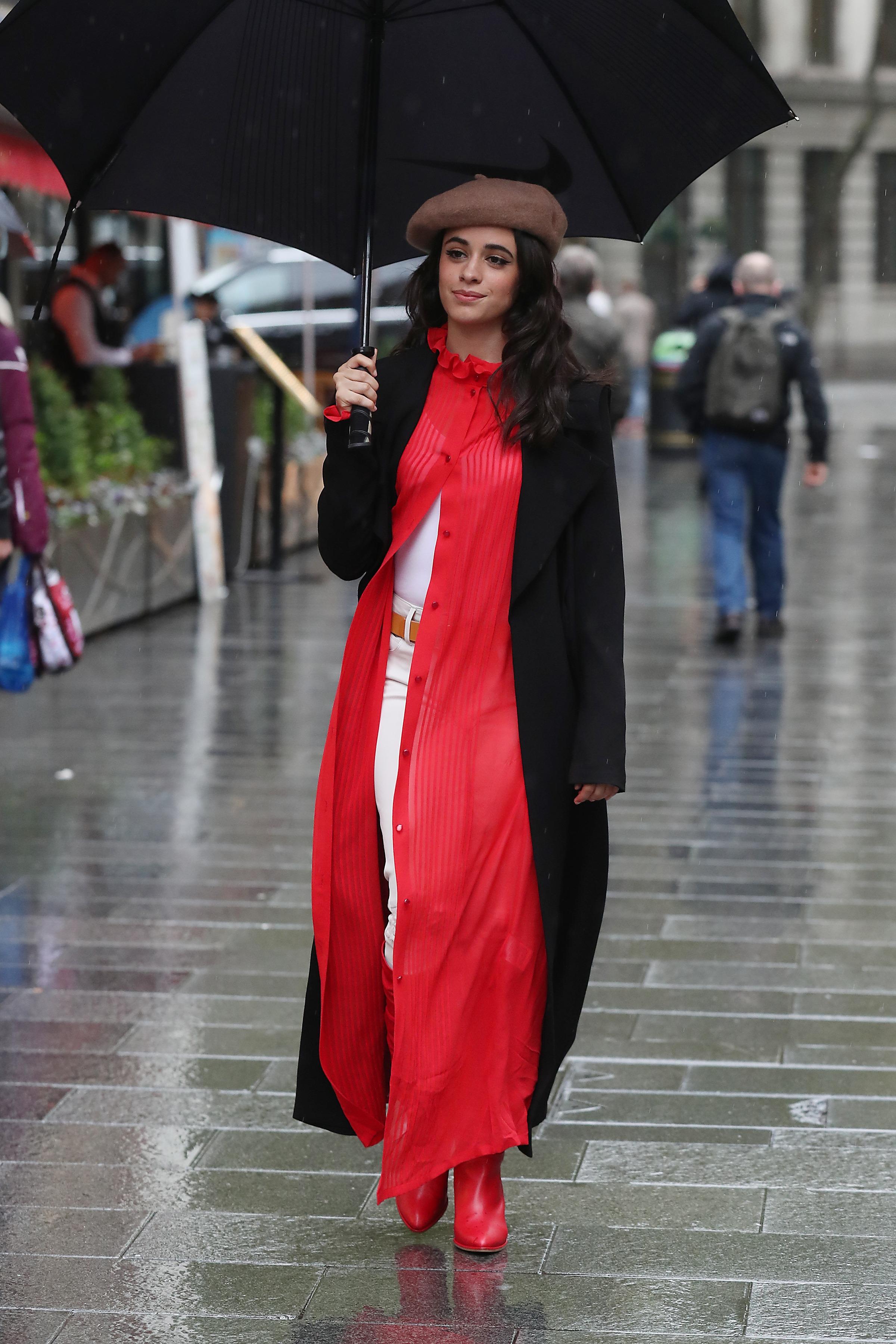 Camilla Cabello seen arriving at Capital Radio studios on October 18, 2017 in London