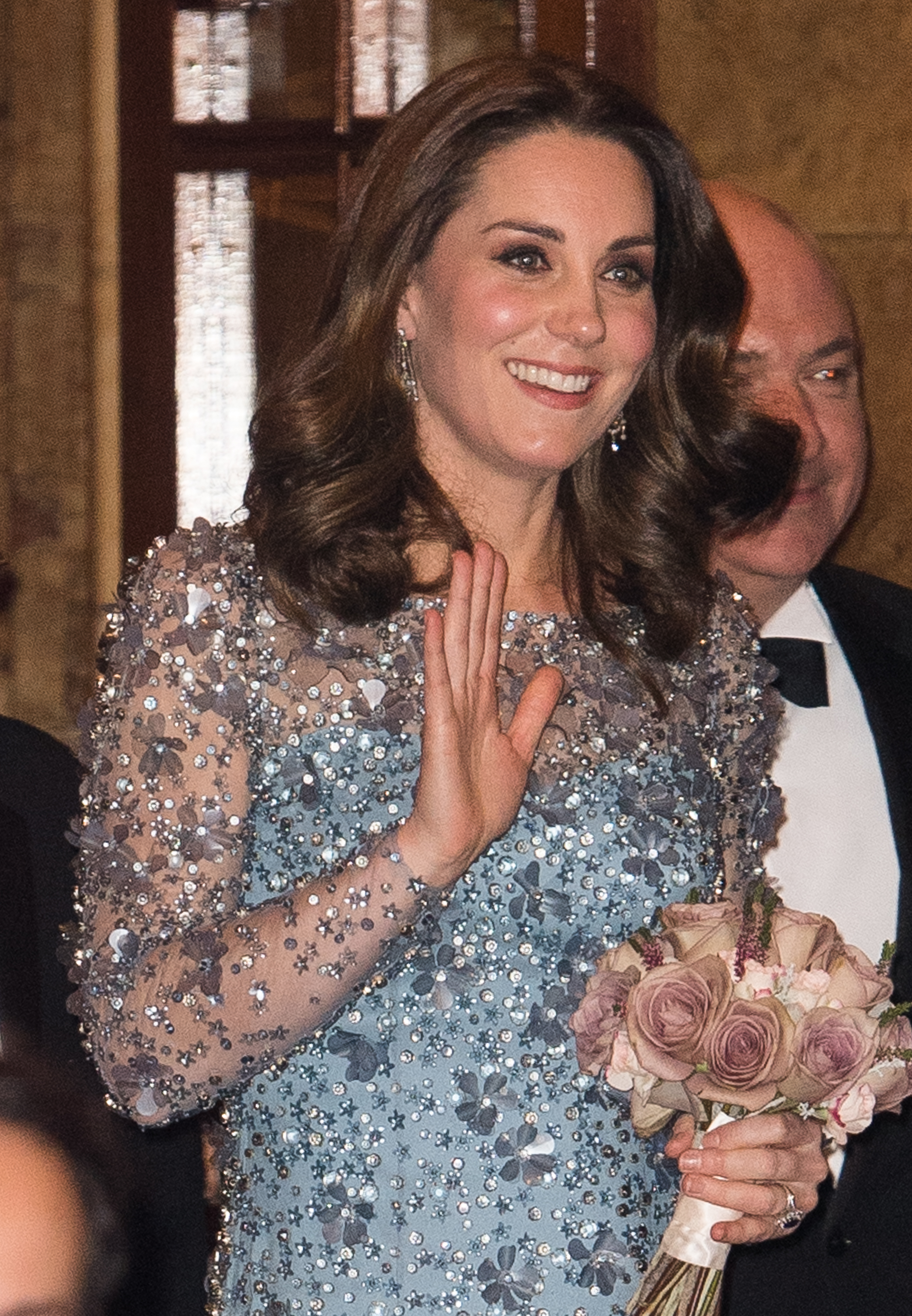 Kate-Middleton-Dazzles-In-Sparkling-Blue-Dress-As-She-Hits-The-Theater-With-Prince-William