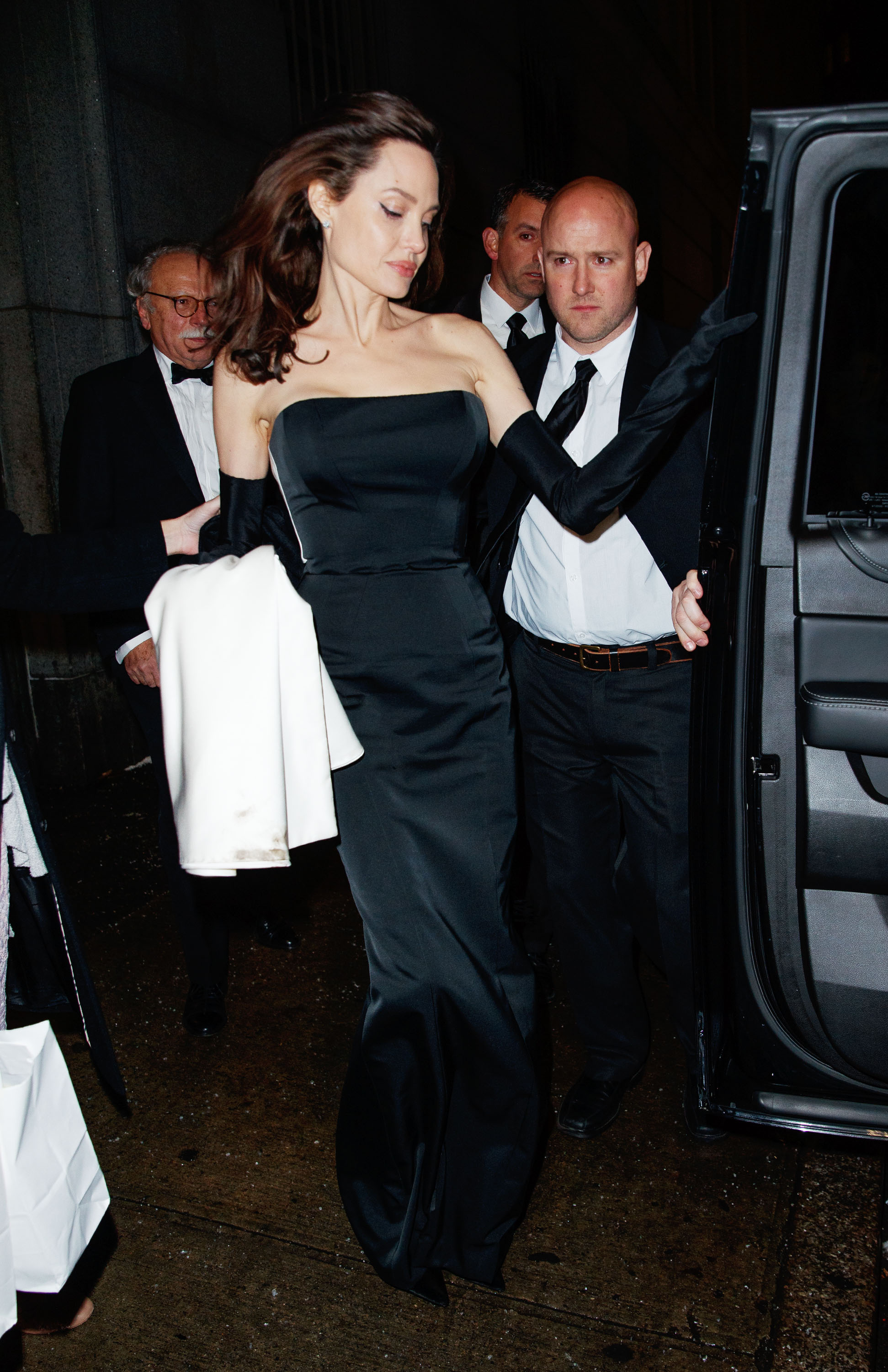 Angelina-Jolie-Channels-Old-Hollywood-In-Glamorous-Night-Out-With-Her-Kids