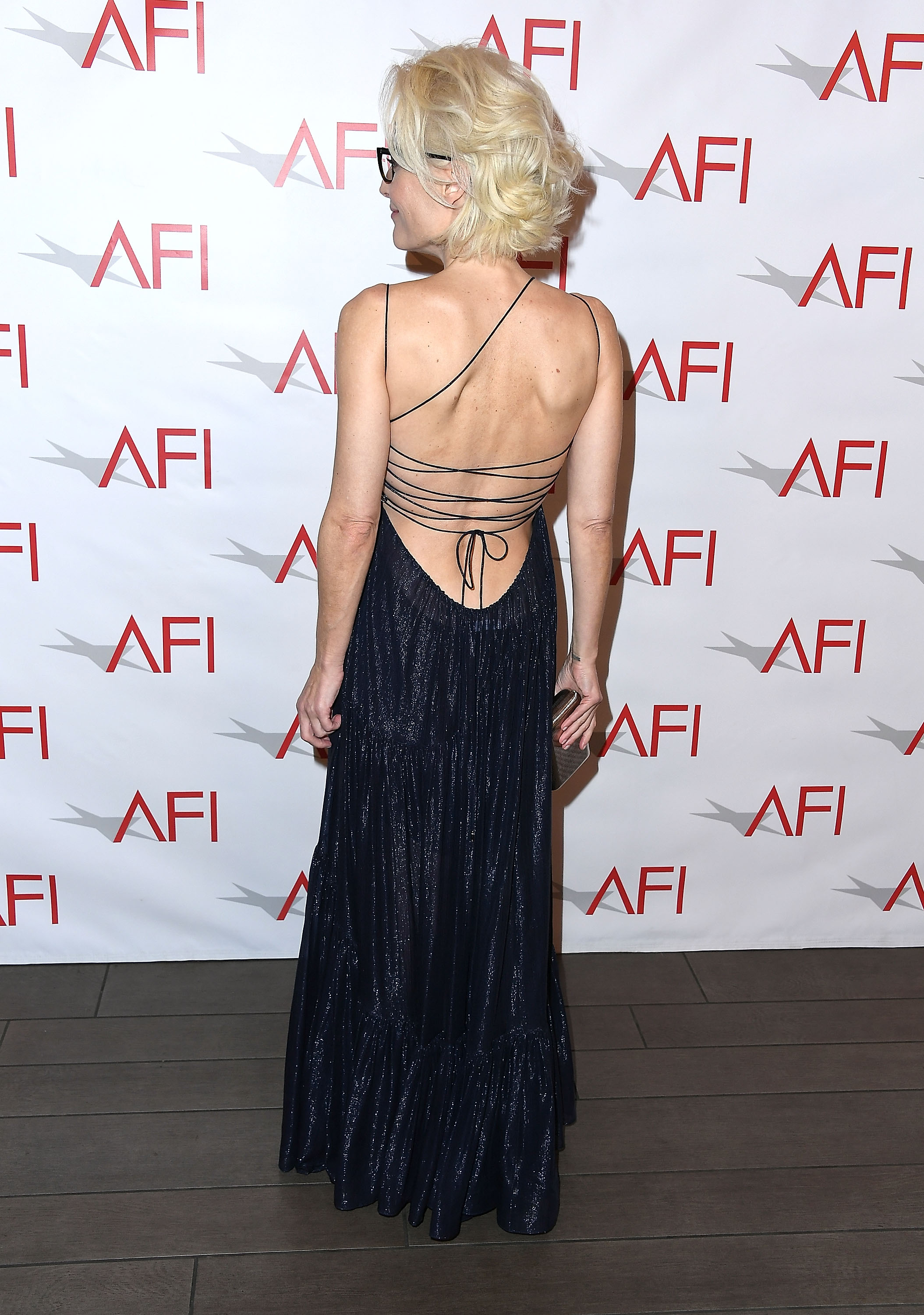 Gillian Anderson arrives at the 18th Annual AFI Awards