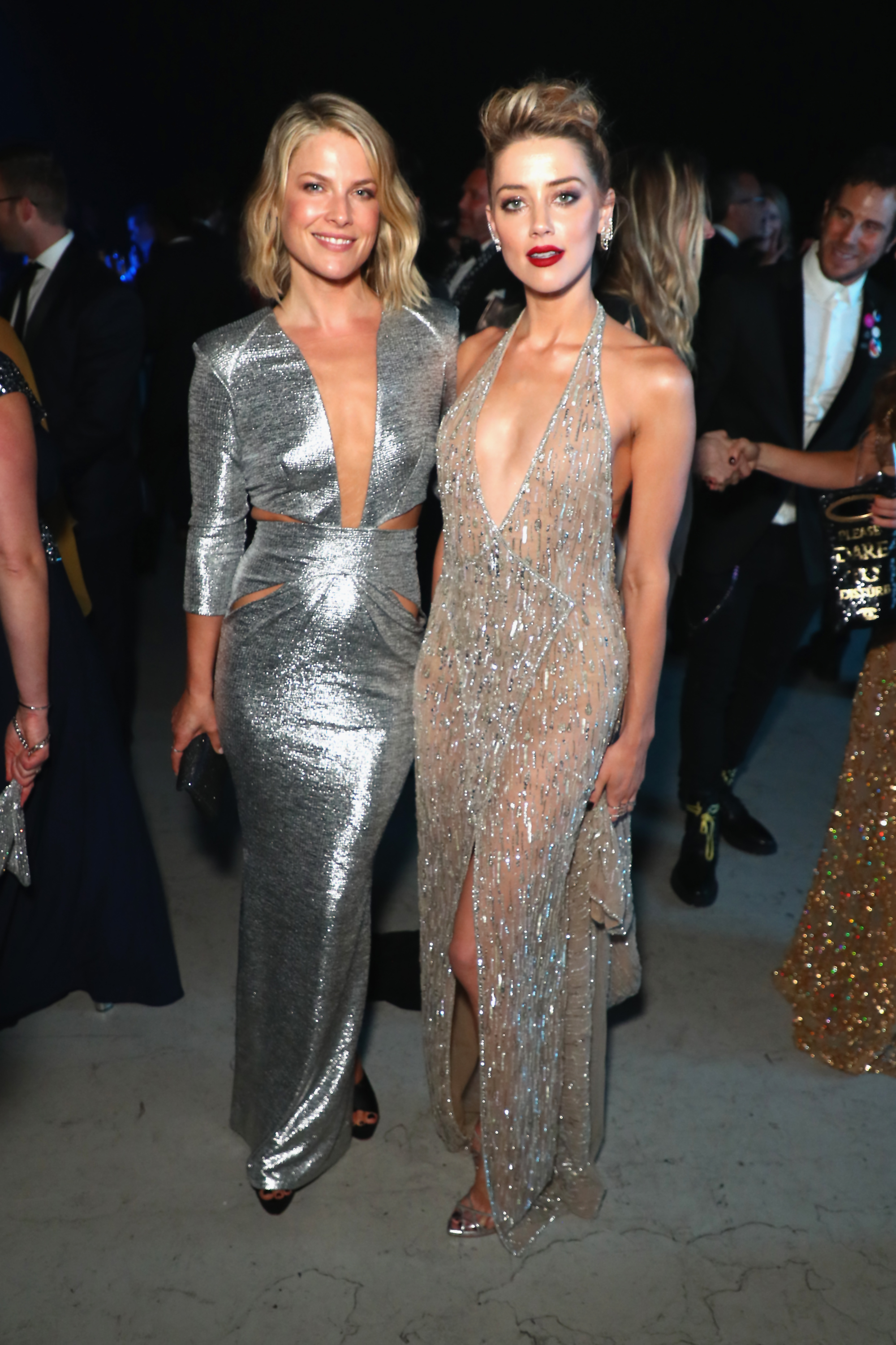 Ali Larter and Amber Heard attend the Moet Hennessy John Legend's HEAVEN with the Art of Elysium