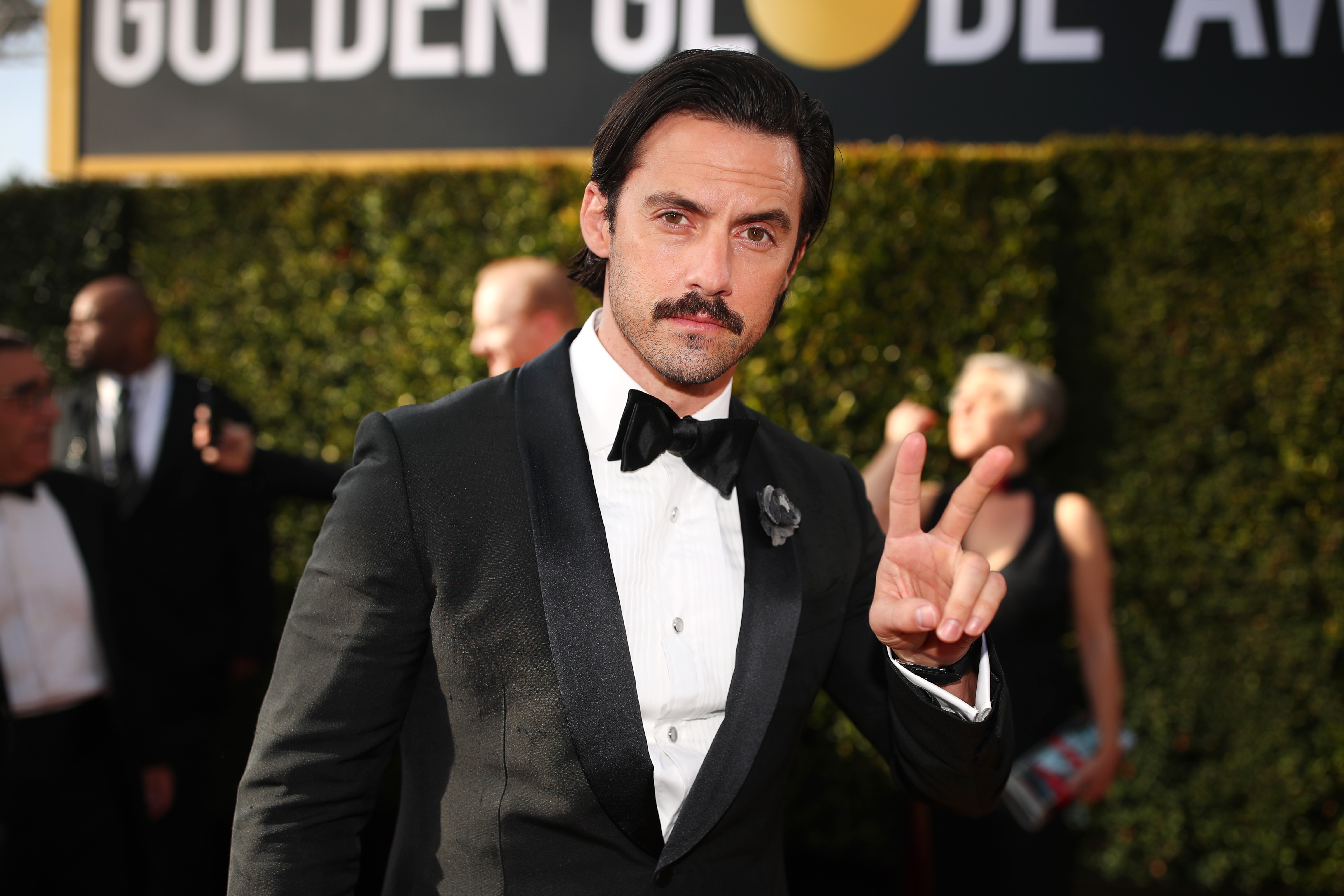Milo Ventimiglia arrives to the 75th Annual Golden Globe Awards held at the Beverly Hilton Hotel on January 7, 2018