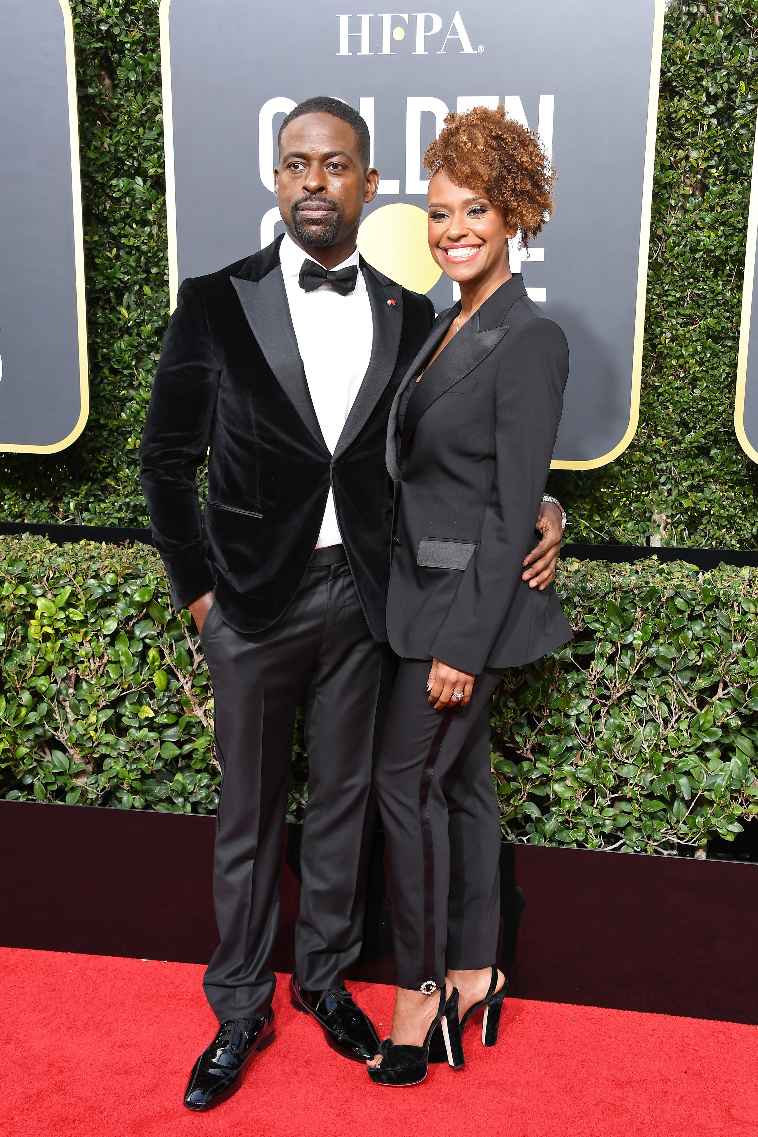 Sterling K. Brown and Ryan Michelle Bathe arrive to the 75th Annual Golden Globe Awards held at the Beverly Hilton Hotel on January 7, 2018