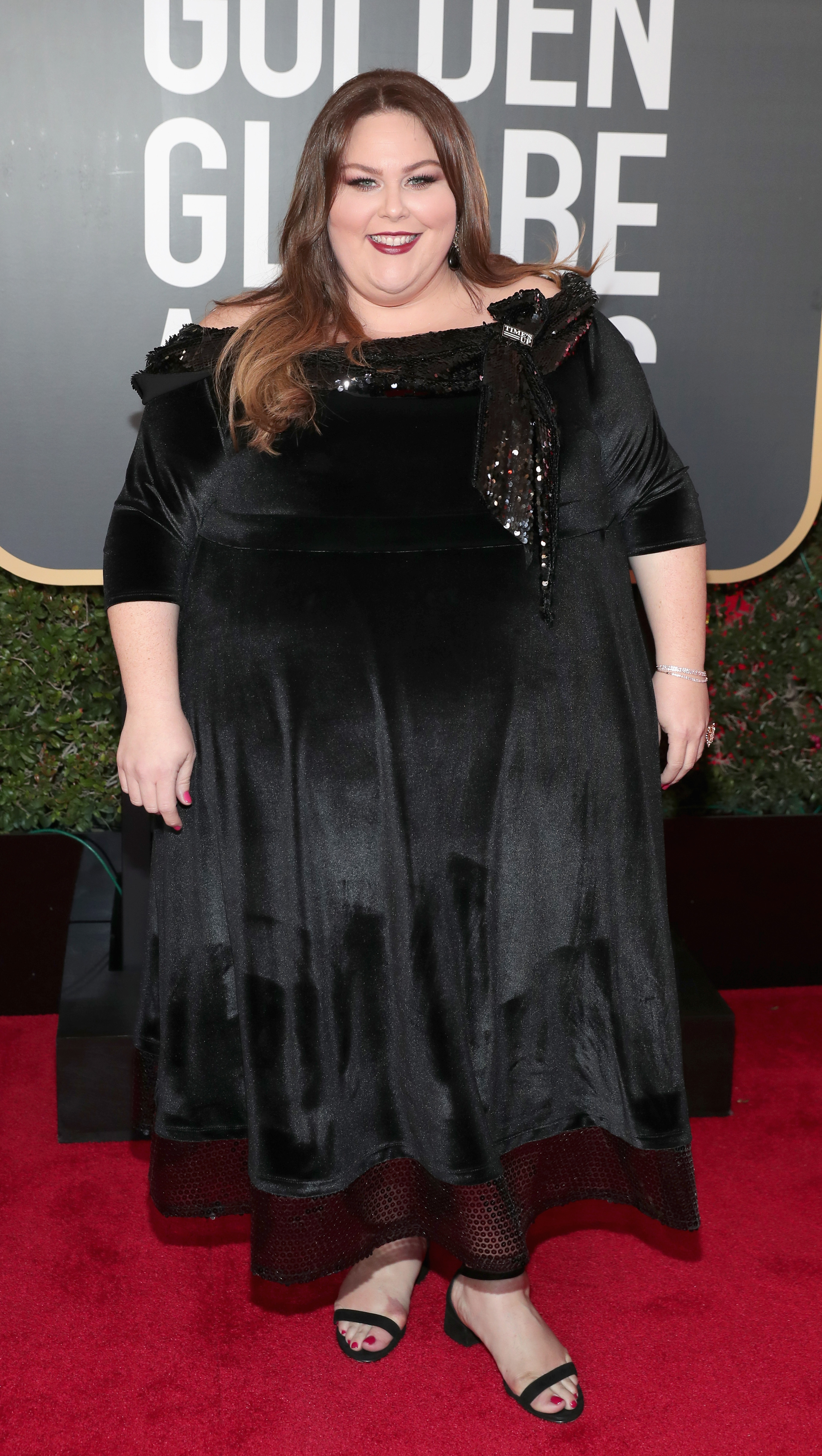 Chrissy Metz arrives to the 75th Annual Golden Globe Awards held at the Beverly Hilton Hotel on January 7, 2018