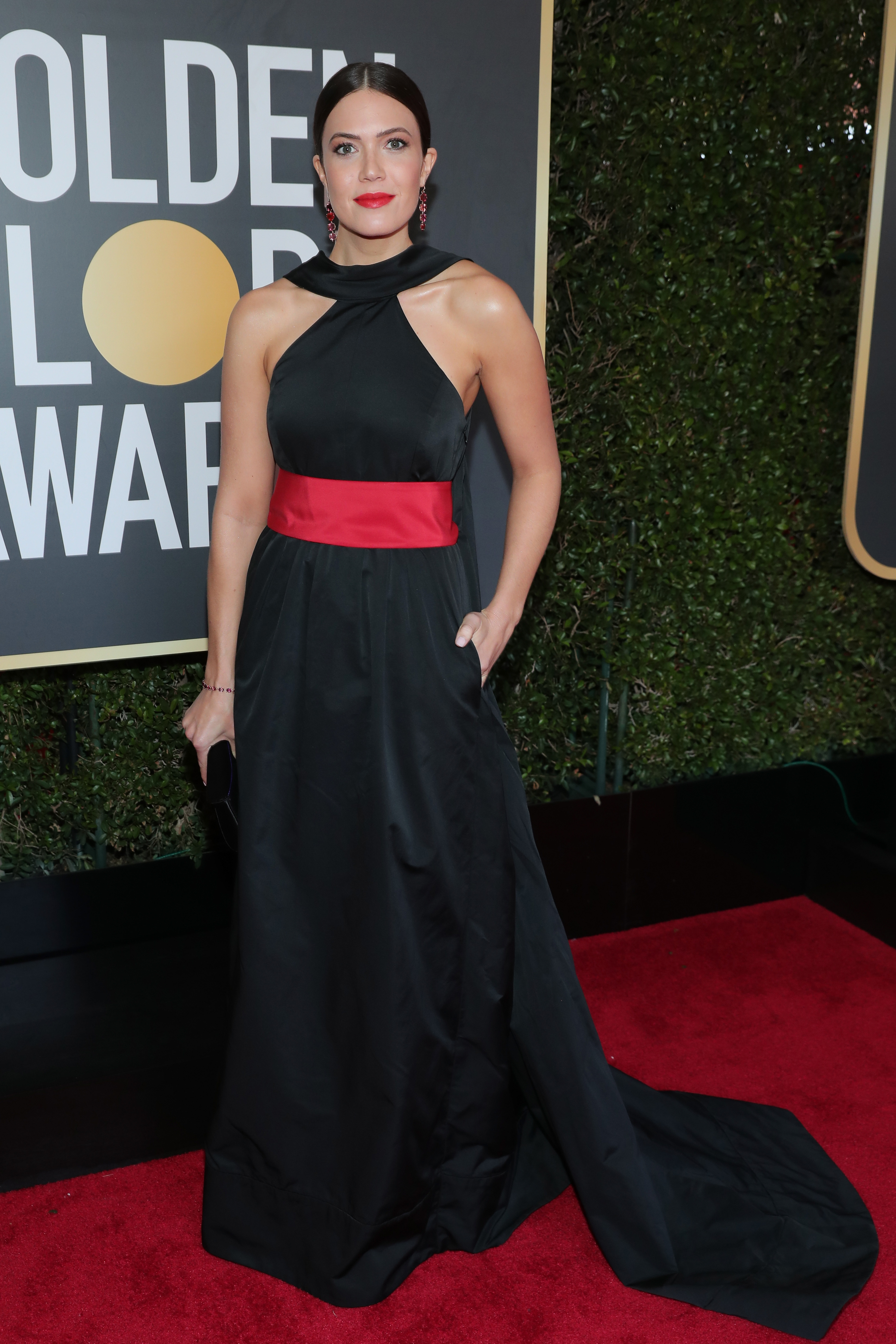 Mandy Moore arrives to the 75th Annual Golden Globe Awards held at the Beverly Hilton Hotel on January 7, 2018