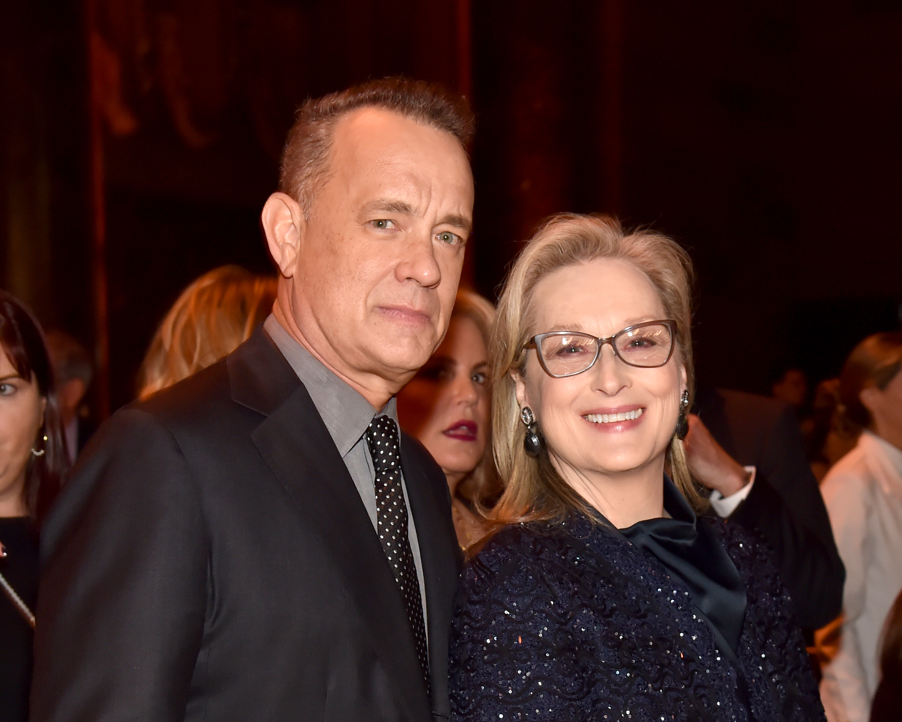 Tom Hanks and Meryl Streep attend the National Board of Review Annual Awards Gala at Cipriani 42nd Street on January 9, 2018 in New York City