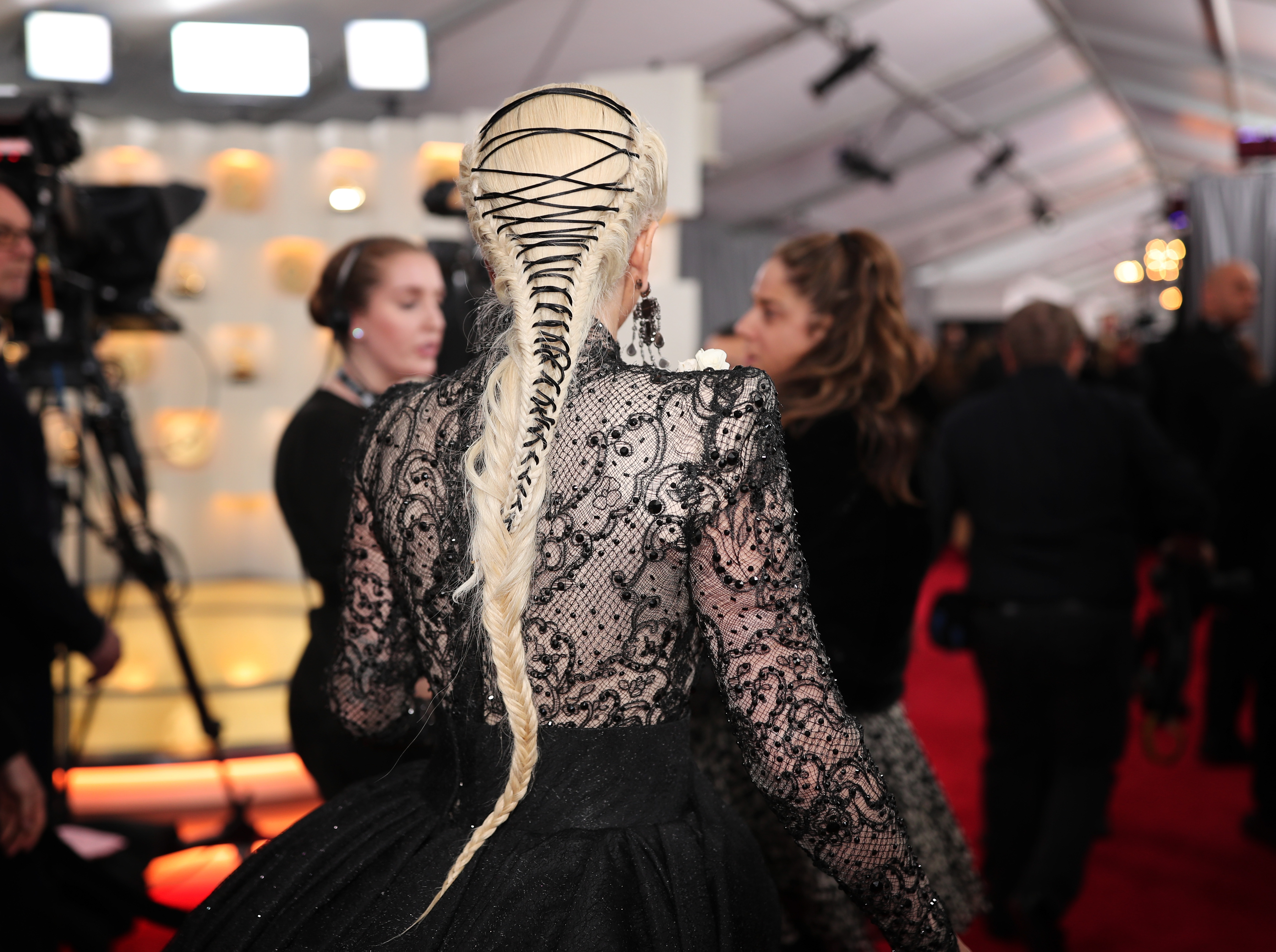 Lady Gaga attends the 60th Annual Grammy Awards at Madison Square Garden on January 28, 2018 in New York City