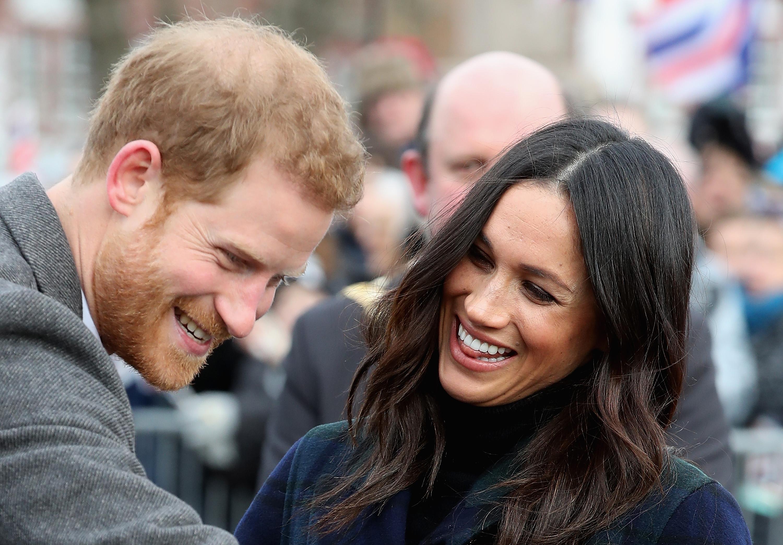 Prince Harry and Meghan Markle visit Edinburgh Castle on February 13, 2018 in Edinburgh, Scotland