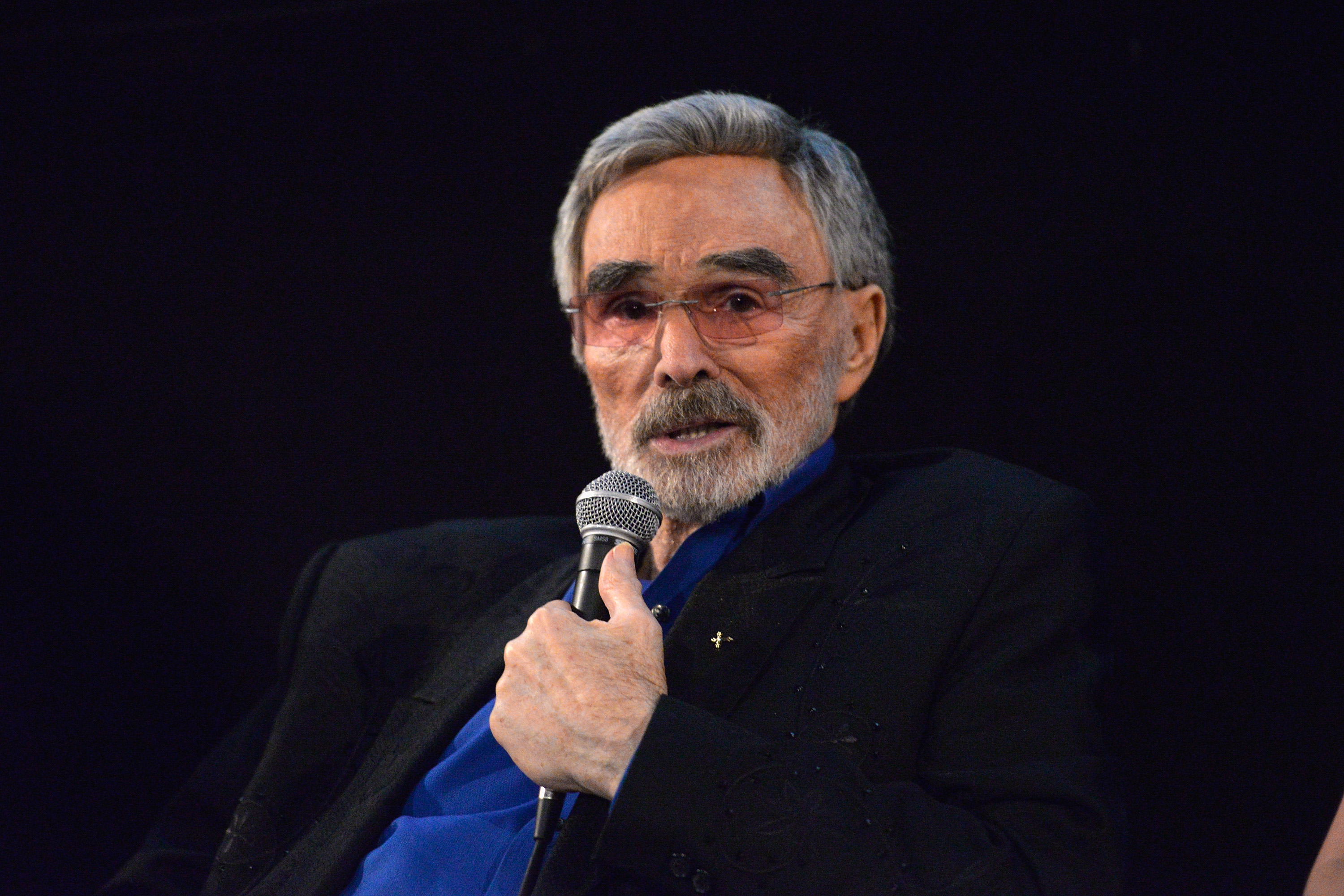 Burt Reynolds speaks during a Q&A session at the Los Angeles premiere of 'The Last Movie Star' at the Egyptian Theatre on March 22, 2018 in Hollywood,
