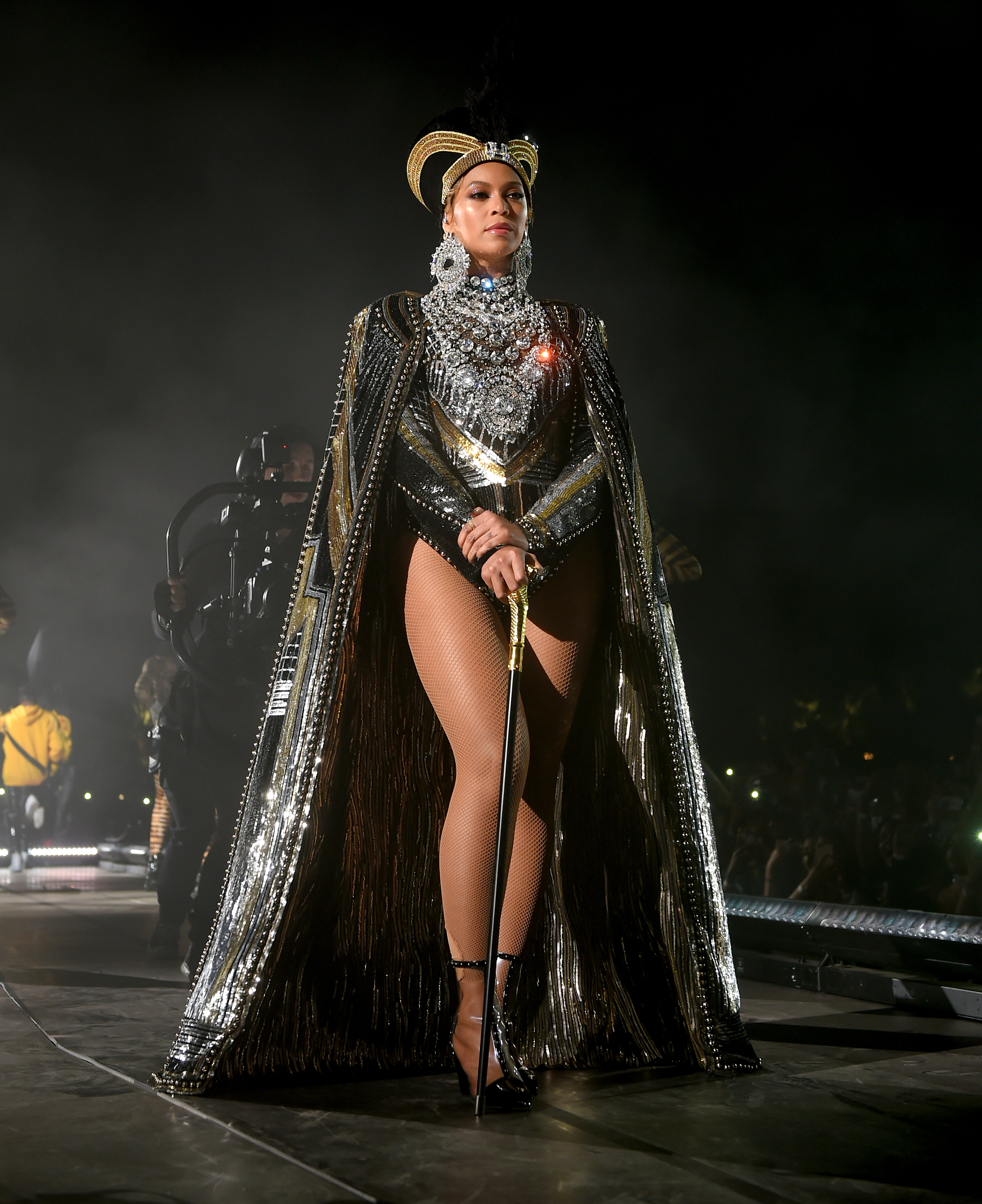 Beyonce Knowles performs onstage during 2018 Coachella Valley Music And Arts Festival Weekend 1 at the Empire Polo Field on April 14, 2018 in Indio, Calif