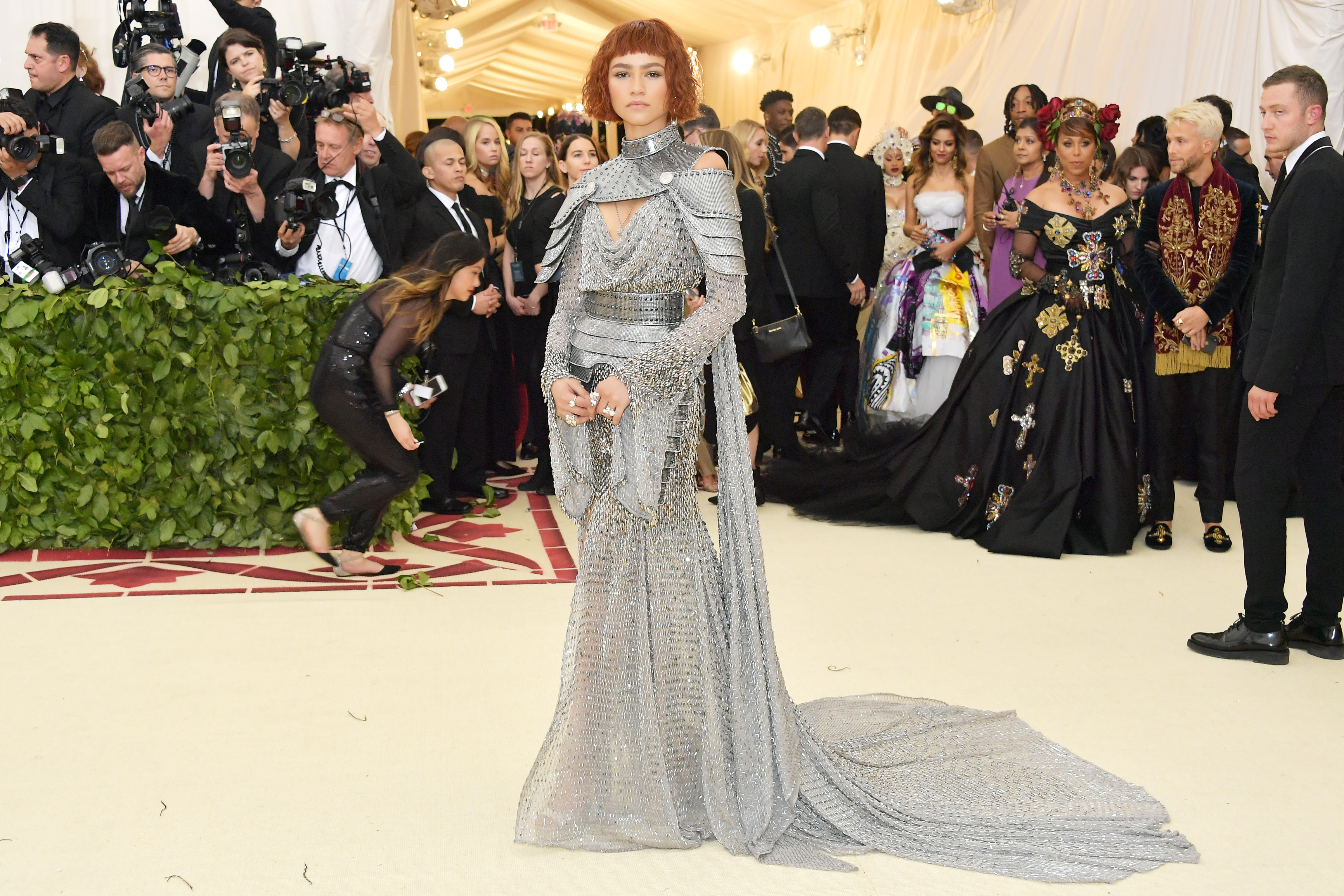 Zendaya attends the Heavenly Bodies: Fashion & The Catholic Imagination Costume Institute Gala at The Metropolitan Museum of Art on May 7, 2018 in New York City