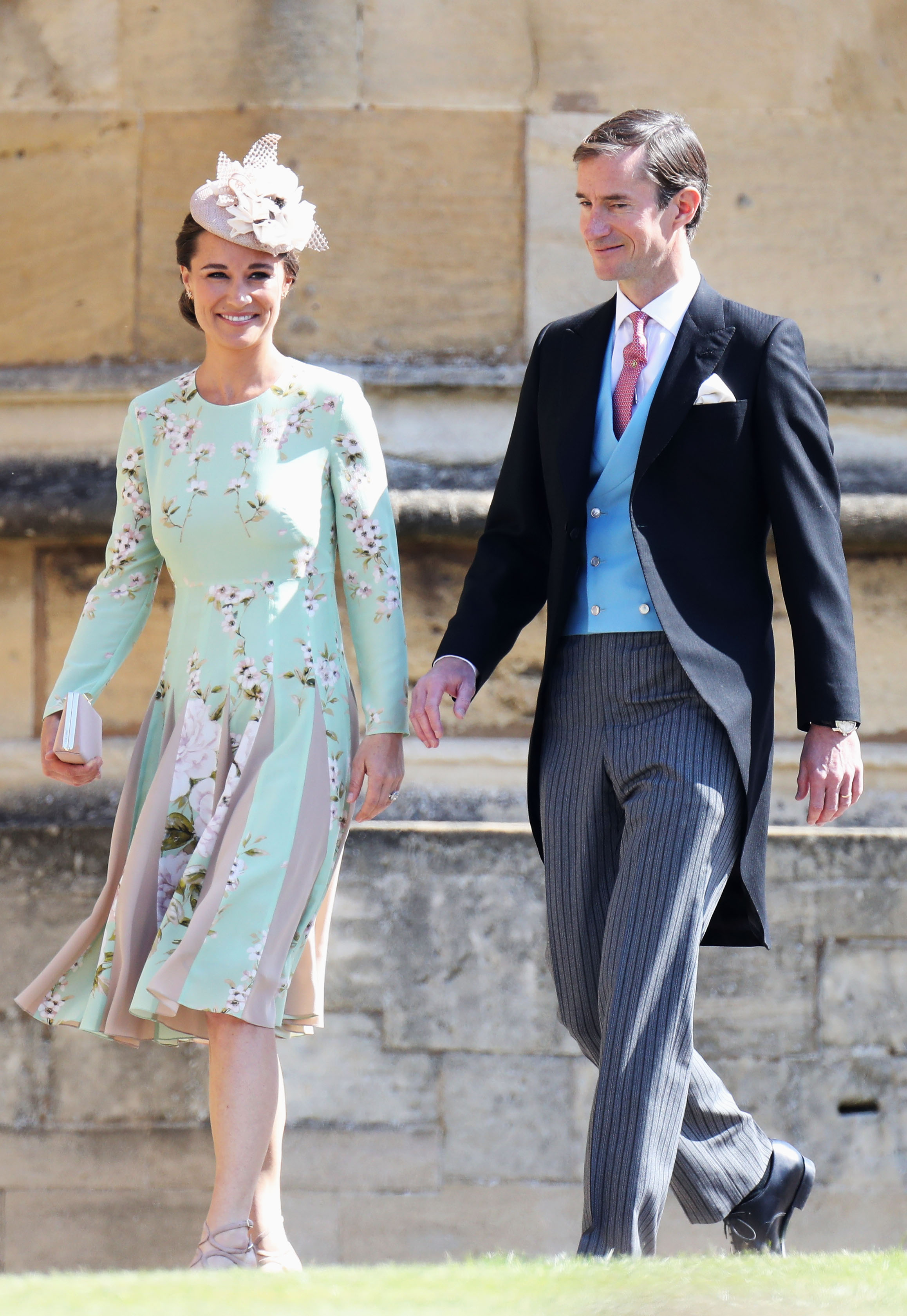 Pippa Middleton In Mint Green Floral Dress