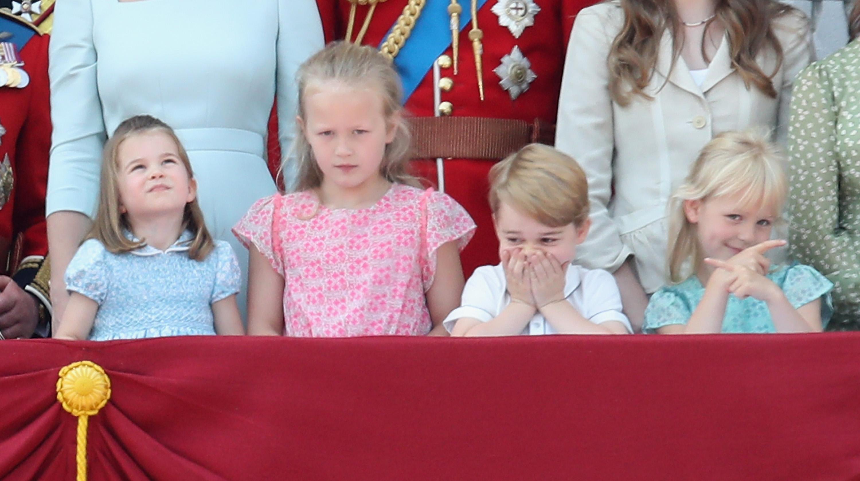 Princess Charlotte,  Savannah Phillips, Prince George and Isla Phillips