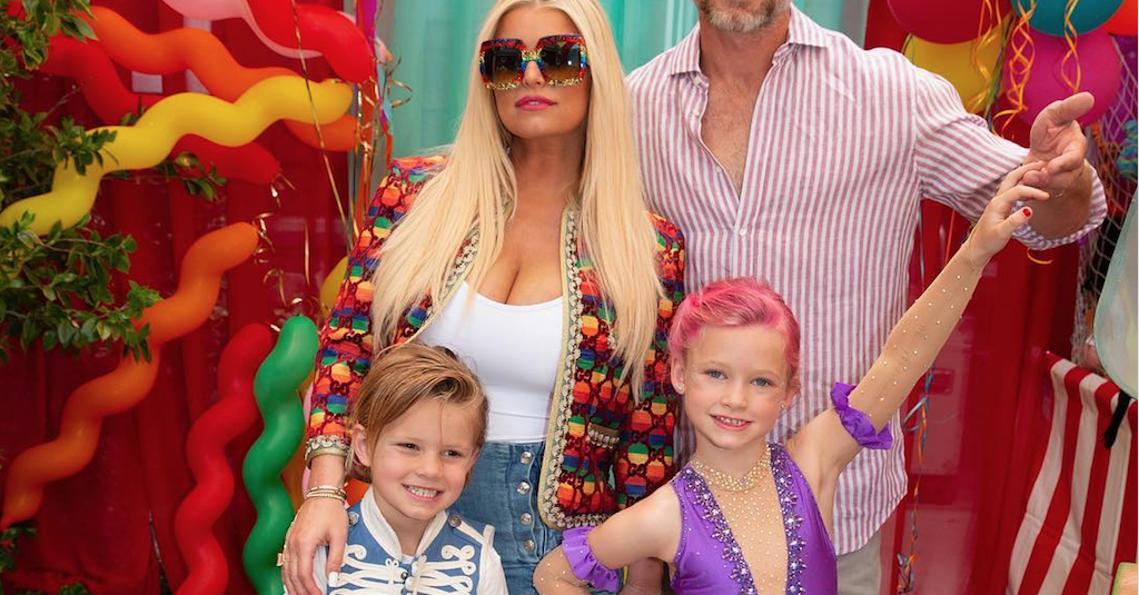Jessica Simpson throws her daughter Maxwell a circus-themed birthday part. (Credit: Instagram)