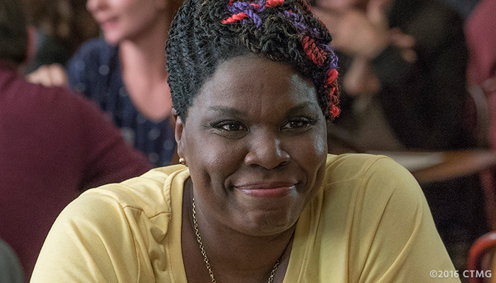 Leslie Jones in a photo from the 'Ghostbusters' reboot on Feb. 3, 2016