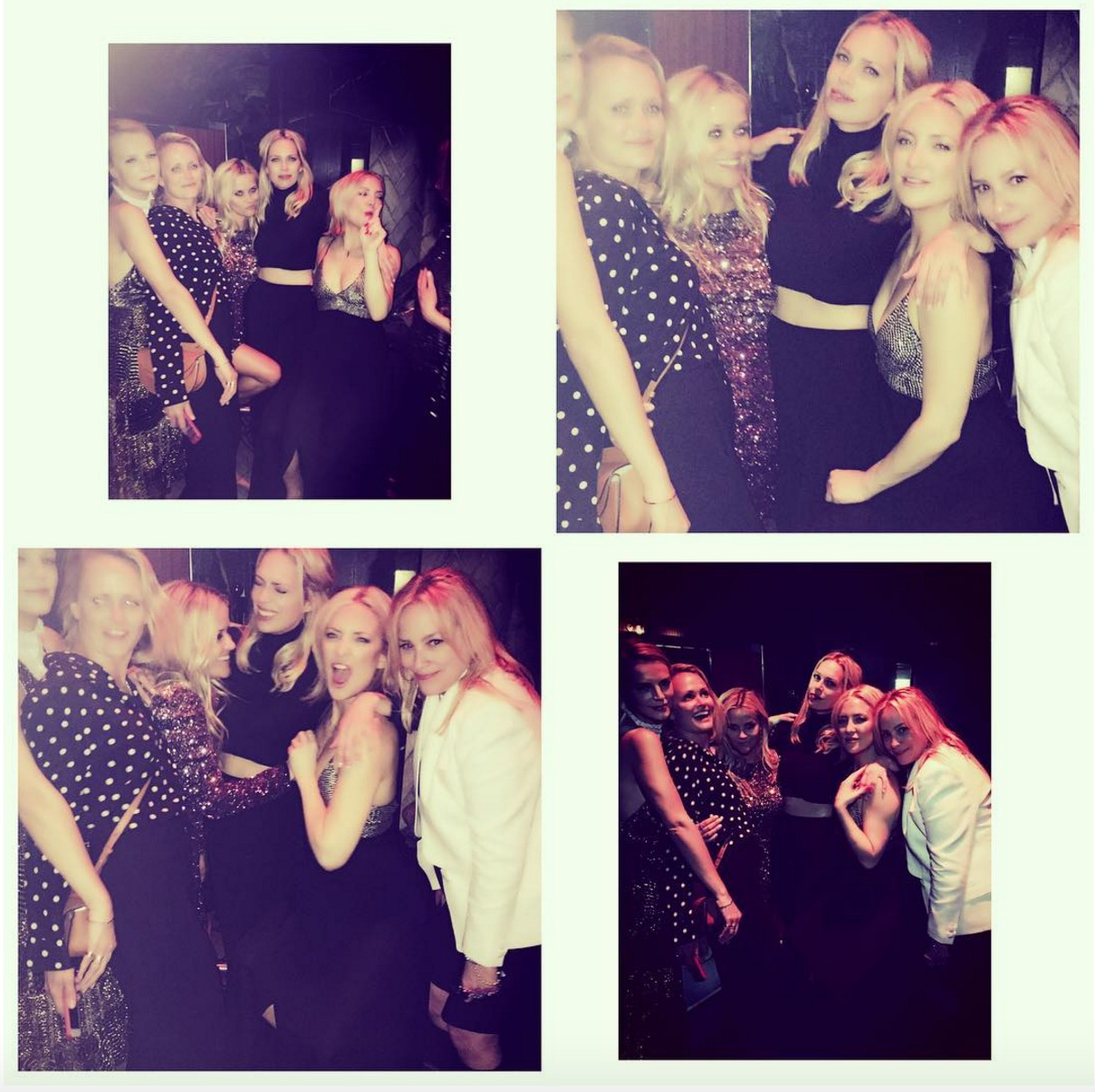 Kate Hudson shares a photo collage from pal Reese Witherspoon's 40th birthday party on March 19, 2016
