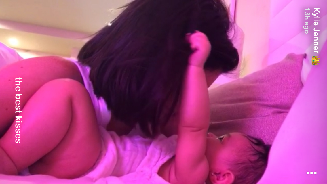 Kylie-Jenner-Shares-Snapchat-Video-Revealing-Baby-Stormi-Has-Pierced-Ears