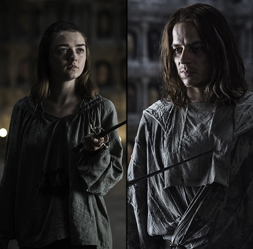 Maisie Williams as Arya Stark and Tom Wlaschiha as Jaqen H'ghar in 'Game of Thrones'