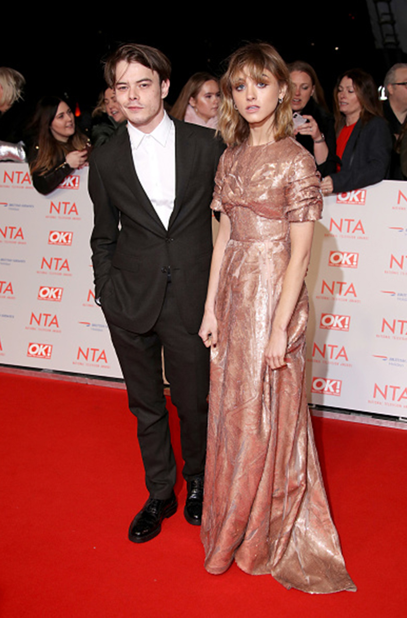 Natalia Dyer Charlie Heaton National Television Awards 2018 – 2