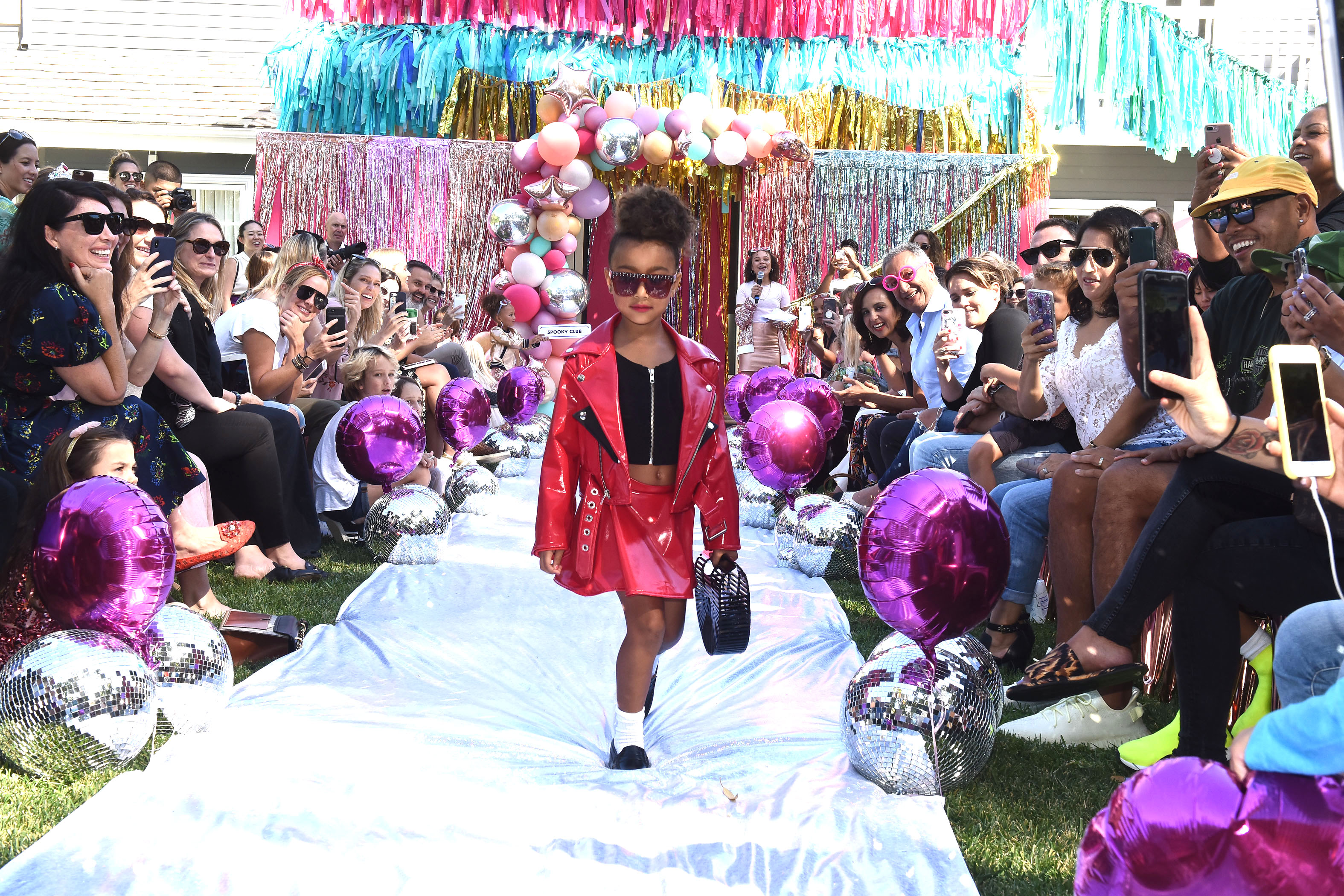 Kim Kardashian's daughter North West walks the runway at the L.O.L. Surprise Fashion Show in Los Angeles on Sept. 22, 2018