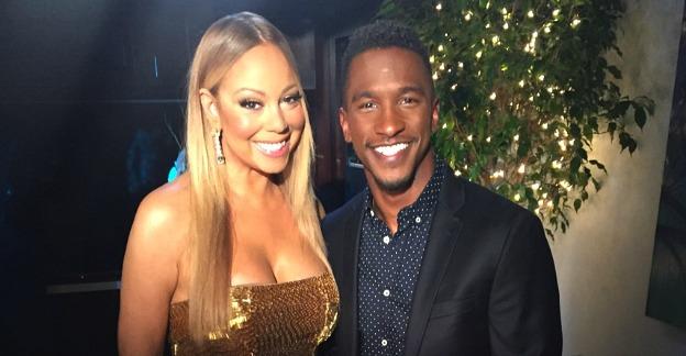 Mariah Carey and Access Hollywood correspondent Scott Evans