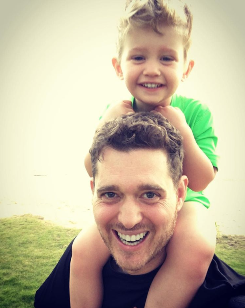 Michael Buble and son Noah in an adorable Instagram