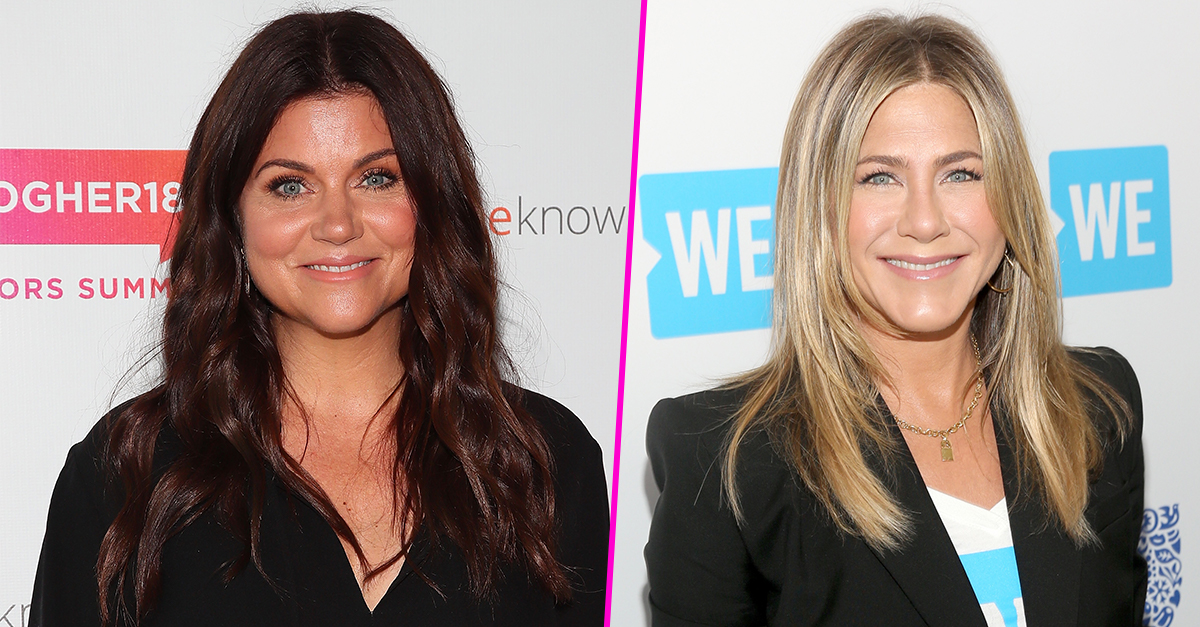Tiffani Thiessen and Jennifer Aniston