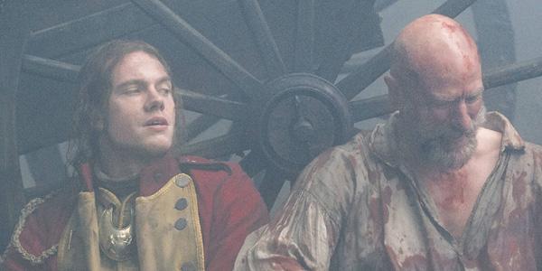 Tom Brittney as Lt. Jeremy Foster and Graham McTavish as Dougal MacKenzie in 'Outlander' Season 2, Episode 10 — 'Prestonpans'