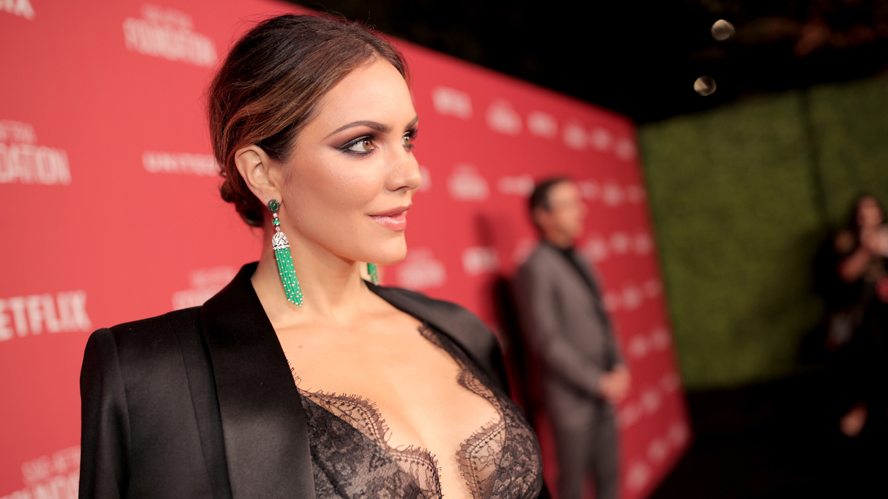 Katharine McPhee Plays Coy About Her Date Night With David Foster