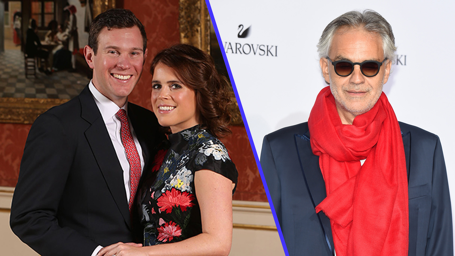 Princess Eugenie and Andrea Bocelli