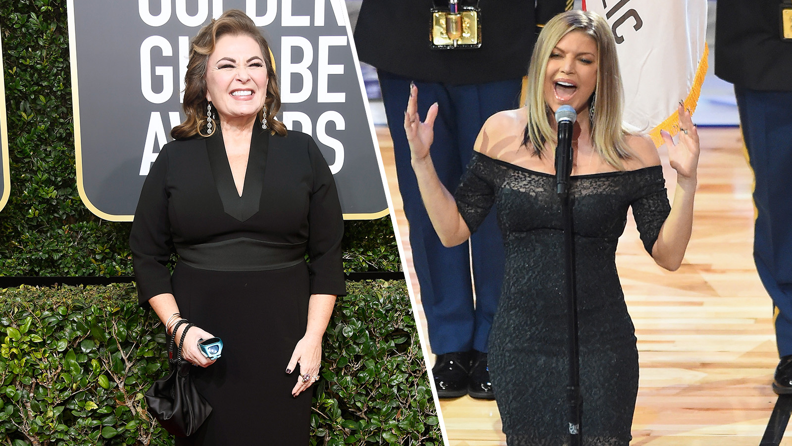 Roseanne Barr and Fergie