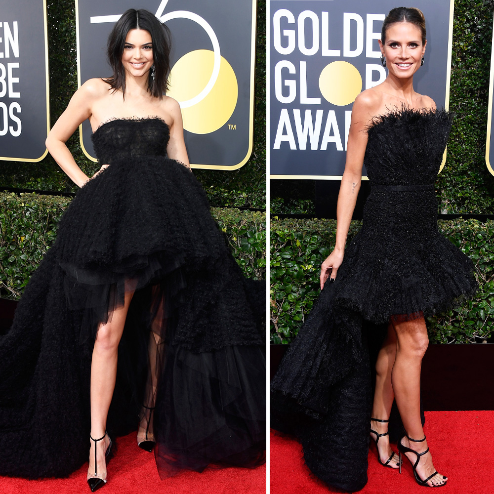 Kendall-Jenner-and-Heidi-Klum-Wear-Nearly-Identical-Dresses-To-The-2018-Golden-Globes