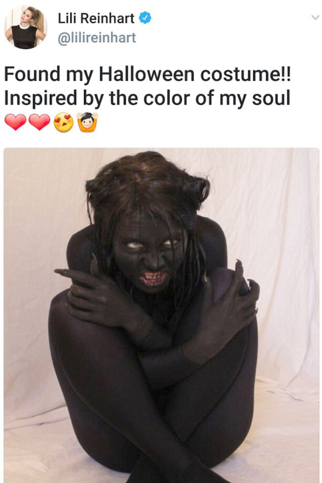 """""""Found my Halloween costume!! Inspired by the color of my soul"""""""