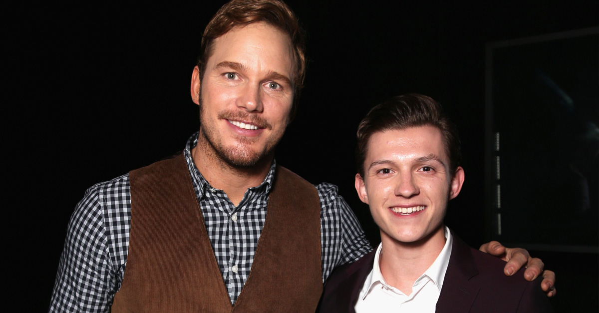 Tom Holland Spoiled The Plot Of 'Jurassic World: Fallen Kingdom' For Chris Pratt