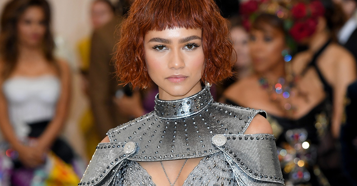 Zendaya Coleman (Wearing Versace) attends as The Mark Hotel celebrates the 2018 Met Gala at The Mark Hotel on May 7, 2018 in New York City