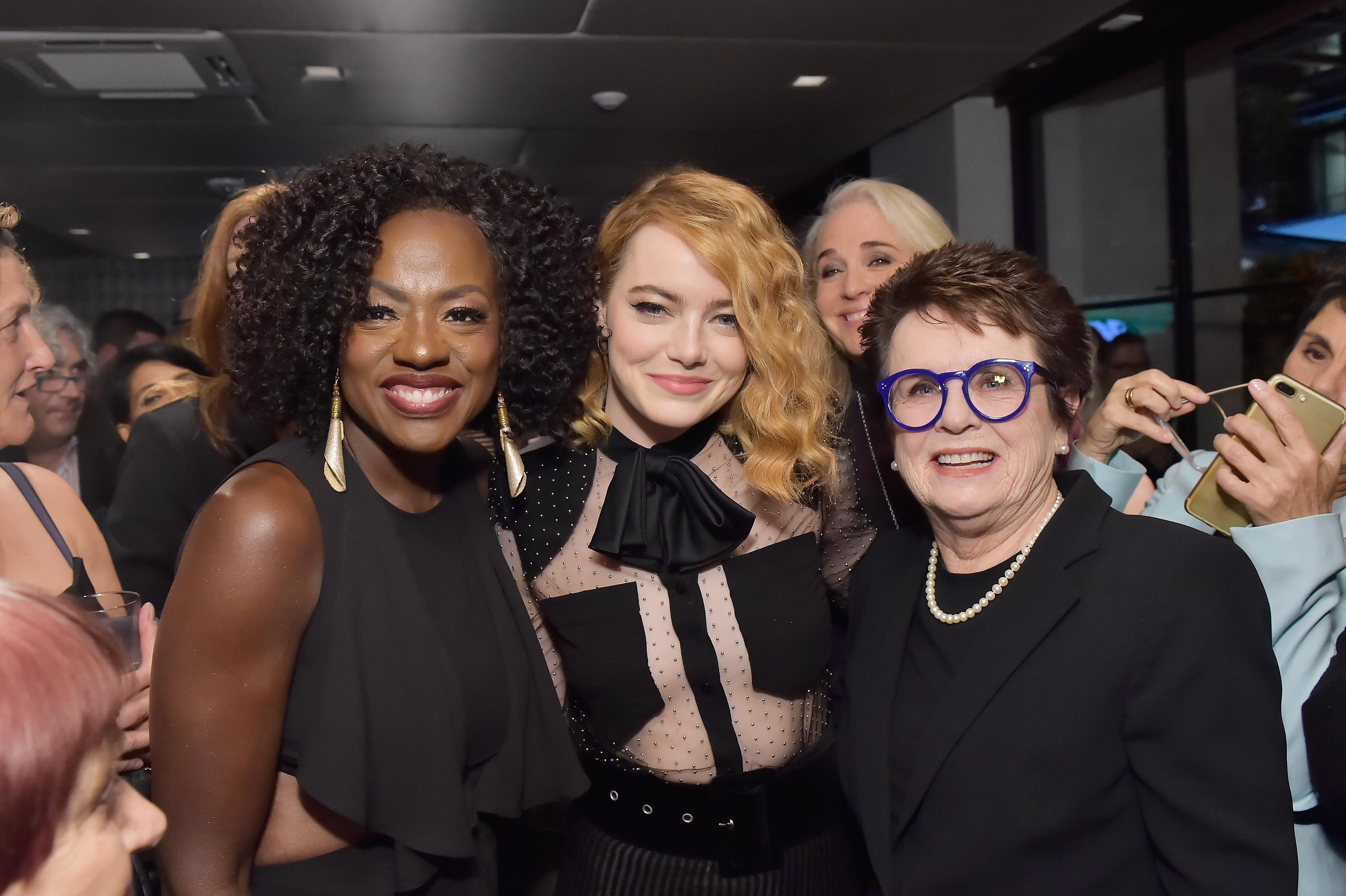 Viola Davis, Emma Stone, Billie Jean King