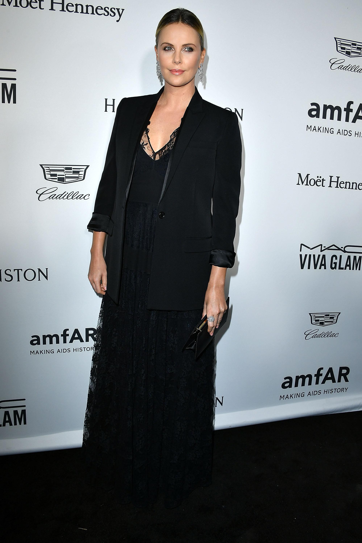 Charlize Theron at amfAR Inspiration Gala Oct 27, 2016