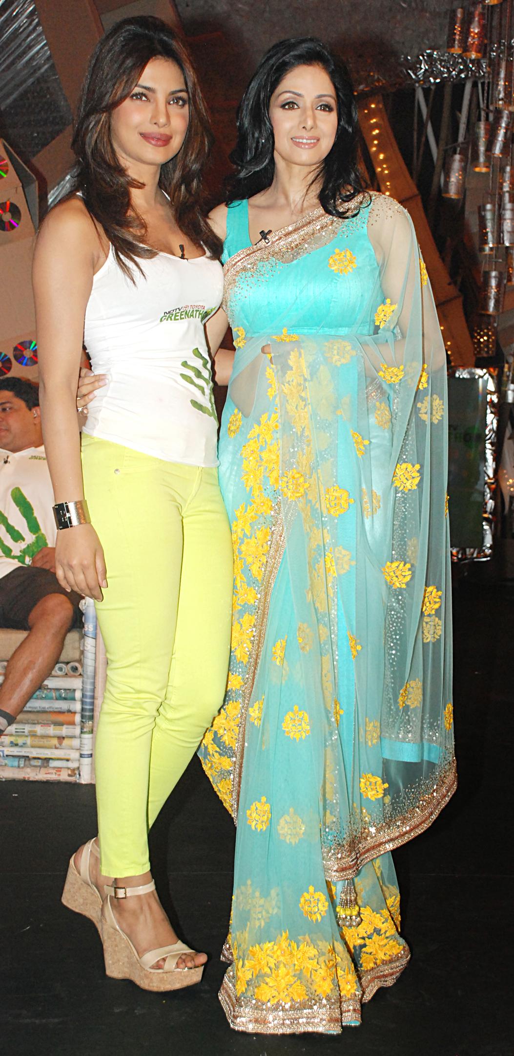Priyanka Chopra with Sridevi