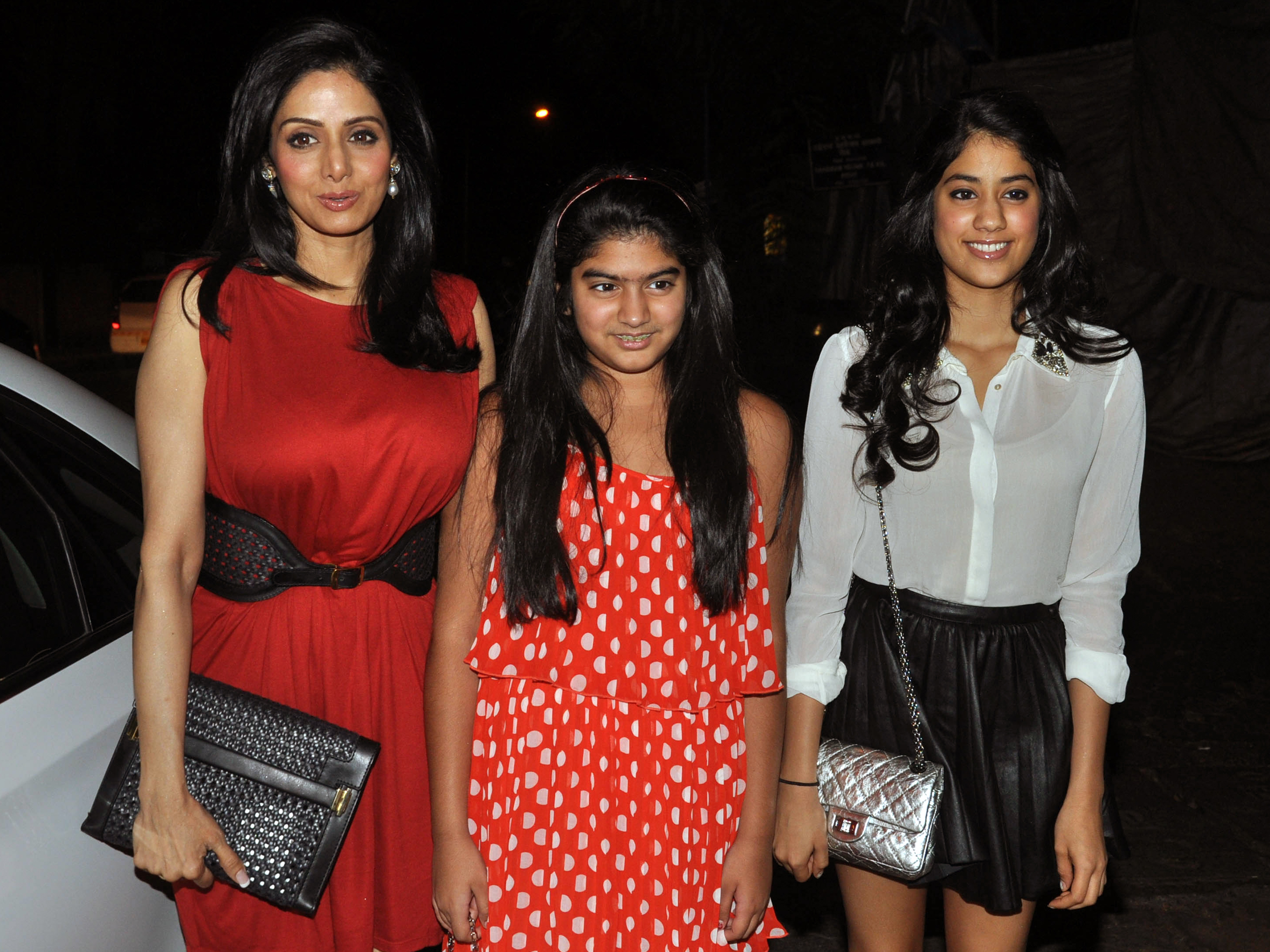 Sridevi Attends People Bagazine Bash With Her Daughters