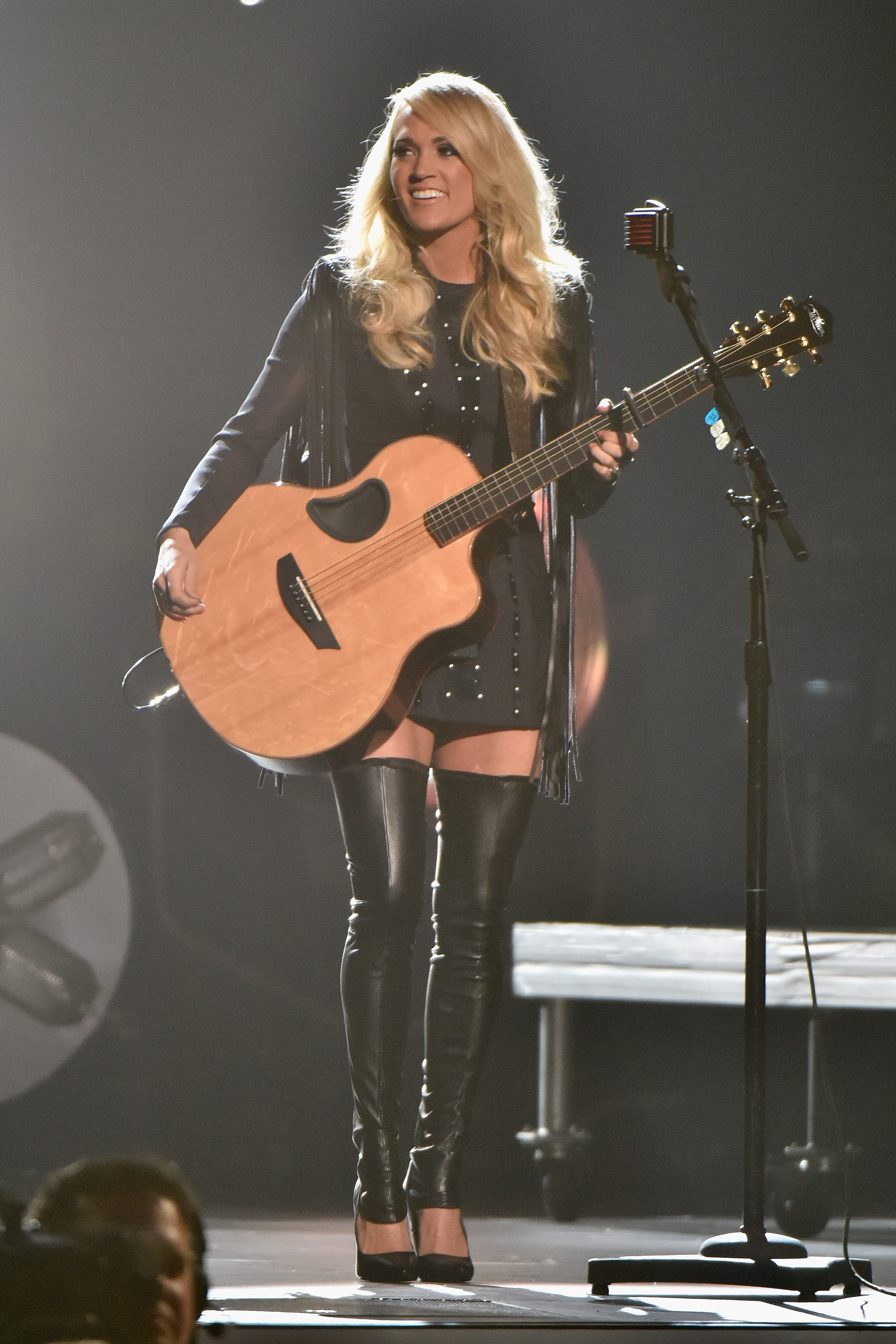 Carrie Underwood performs onstage at the 49th annual CMA Awards at the Bridgestone Arena on November 4, 2015 in Nashville