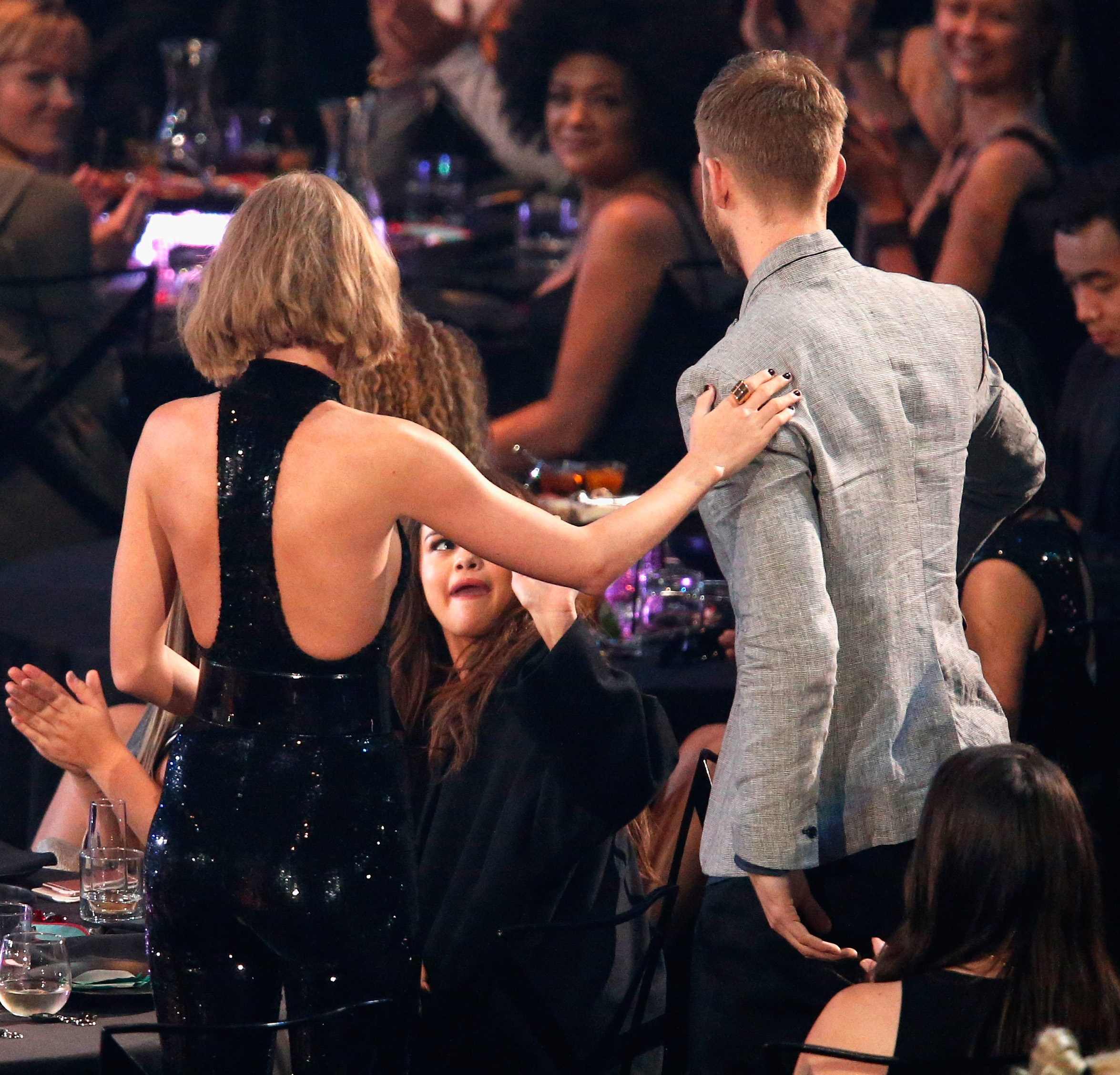 Taylor Swift and Calvin Harris the iHeartRadio Music Awards at The Forum on April 3, 2016 in Inglewood
