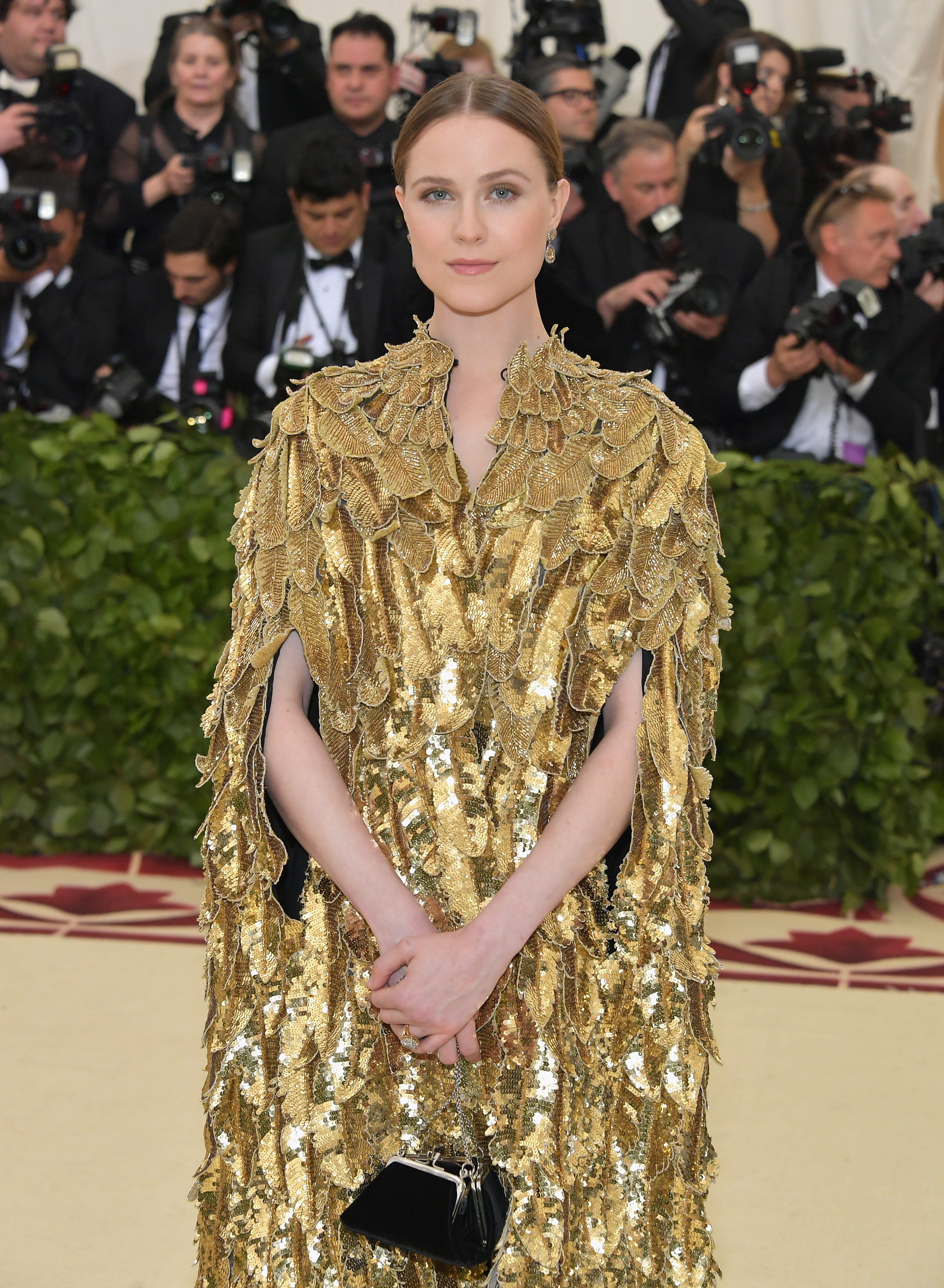 Evan Rachel Wood attends the Heavenly Bodies: Fashion & The Catholic Imagination Costume Institute Gala at The Metropolitan Museum of Art on May 7, 2018 in New York City