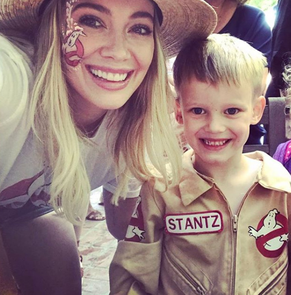Who you gonna call?! Hilary Duff and her son Luca for those pesky ghosts!